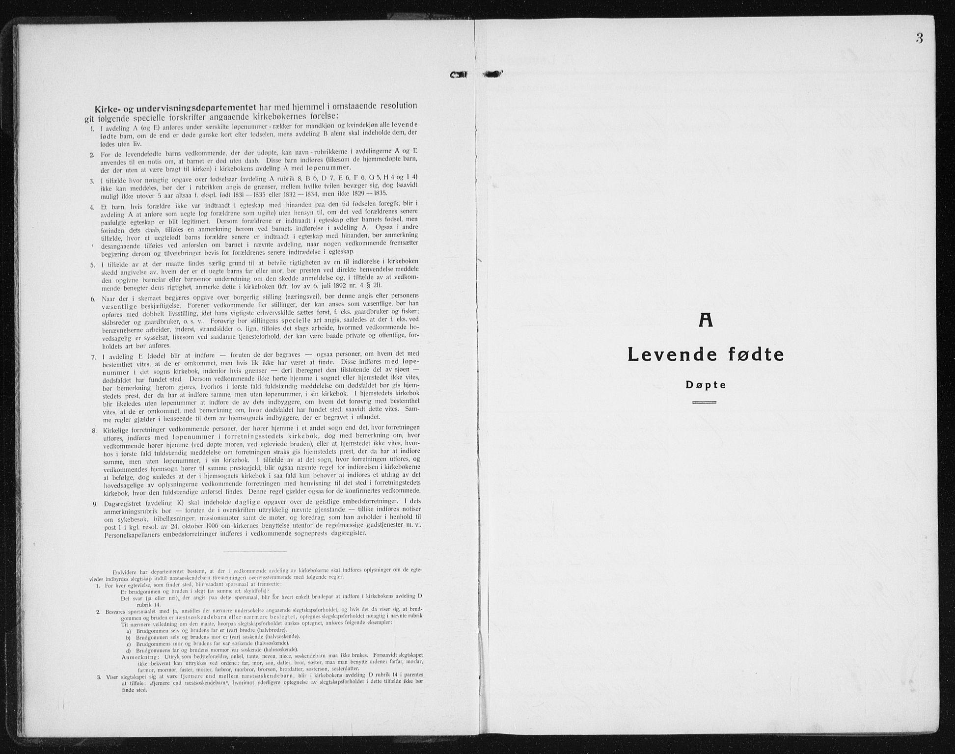 SAT, Ministerialprotokoller, klokkerbøker og fødselsregistre - Sør-Trøndelag, 640/L0589: Klokkerbok nr. 640C06, 1922-1934, s. 3