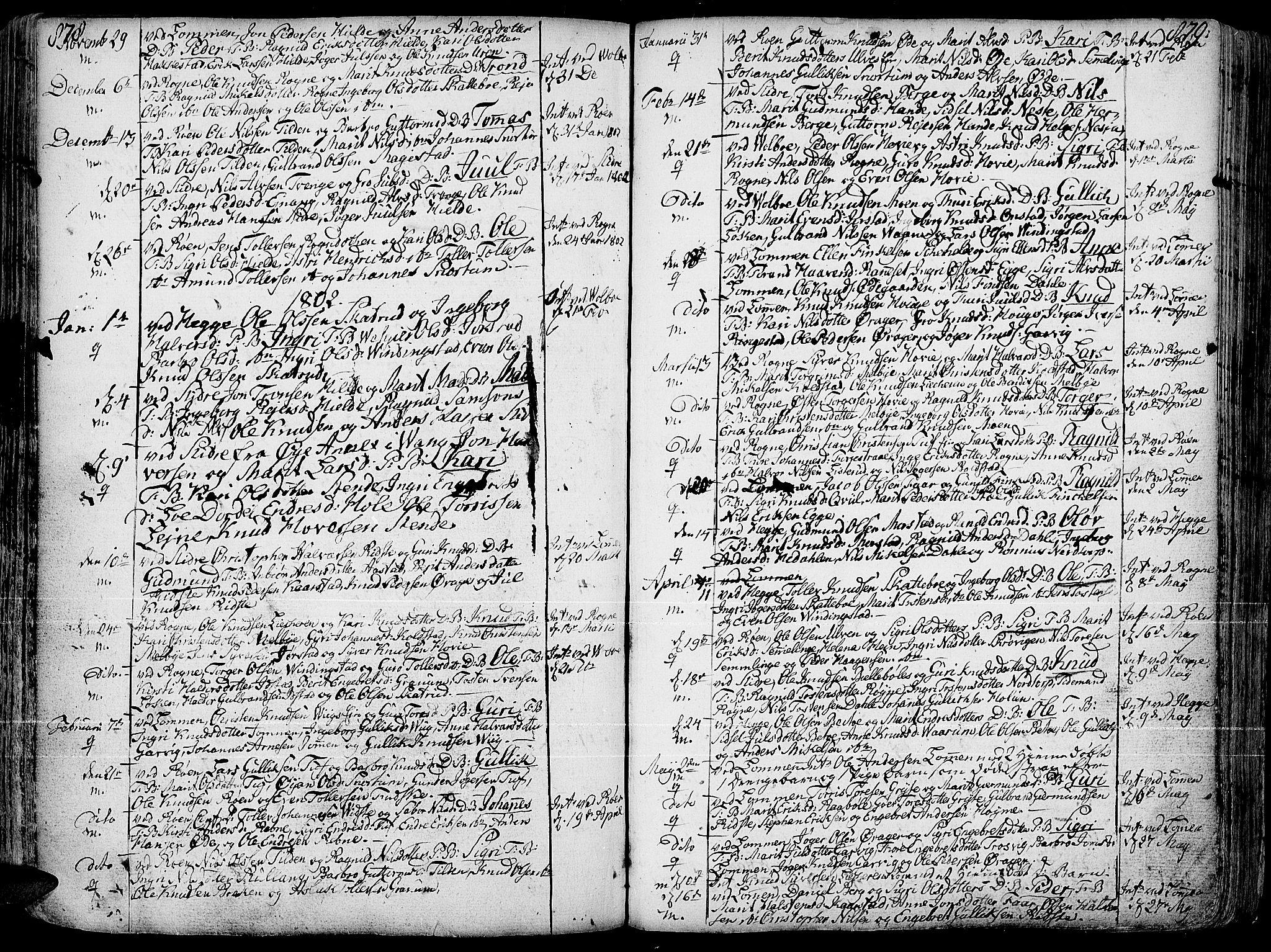 SAH, Slidre prestekontor, Ministerialbok nr. 1, 1724-1814, s. 878-879