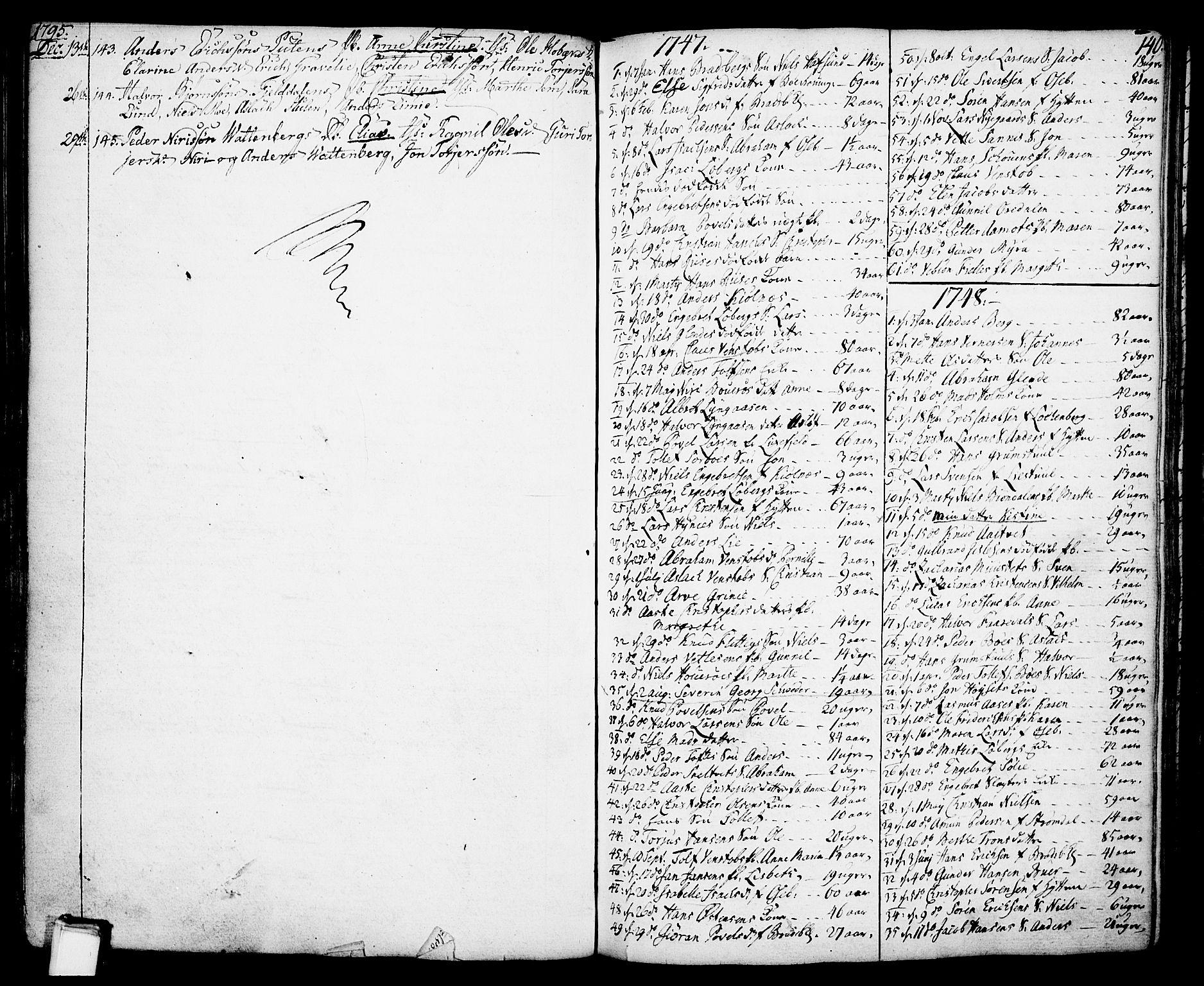 SAKO, Gjerpen kirkebøker, F/Fa/L0002: Ministerialbok nr. 2, 1747-1795, s. 140