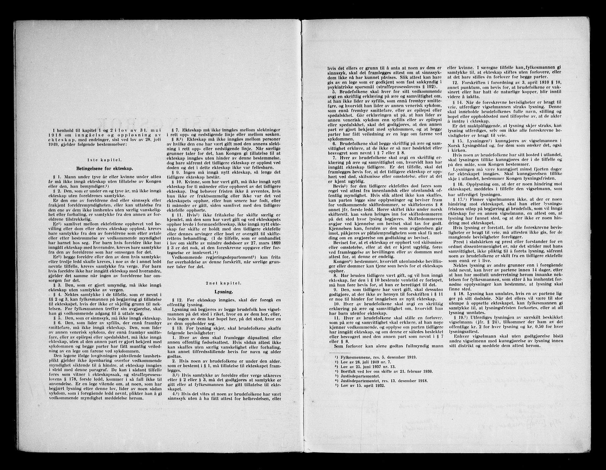 SAKO, Holla kirkebøker, H/Ha/L0002: Lysningsprotokoll nr. 2, 1951-1969