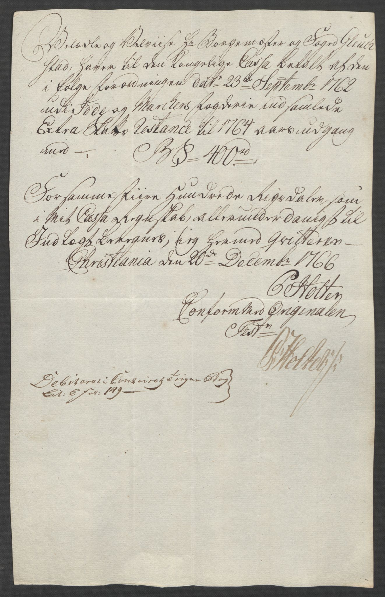 RA, Rentekammeret inntil 1814, Reviderte regnskaper, Fogderegnskap, R01/L0097: Ekstraskatten Idd og Marker, 1756-1767, s. 217