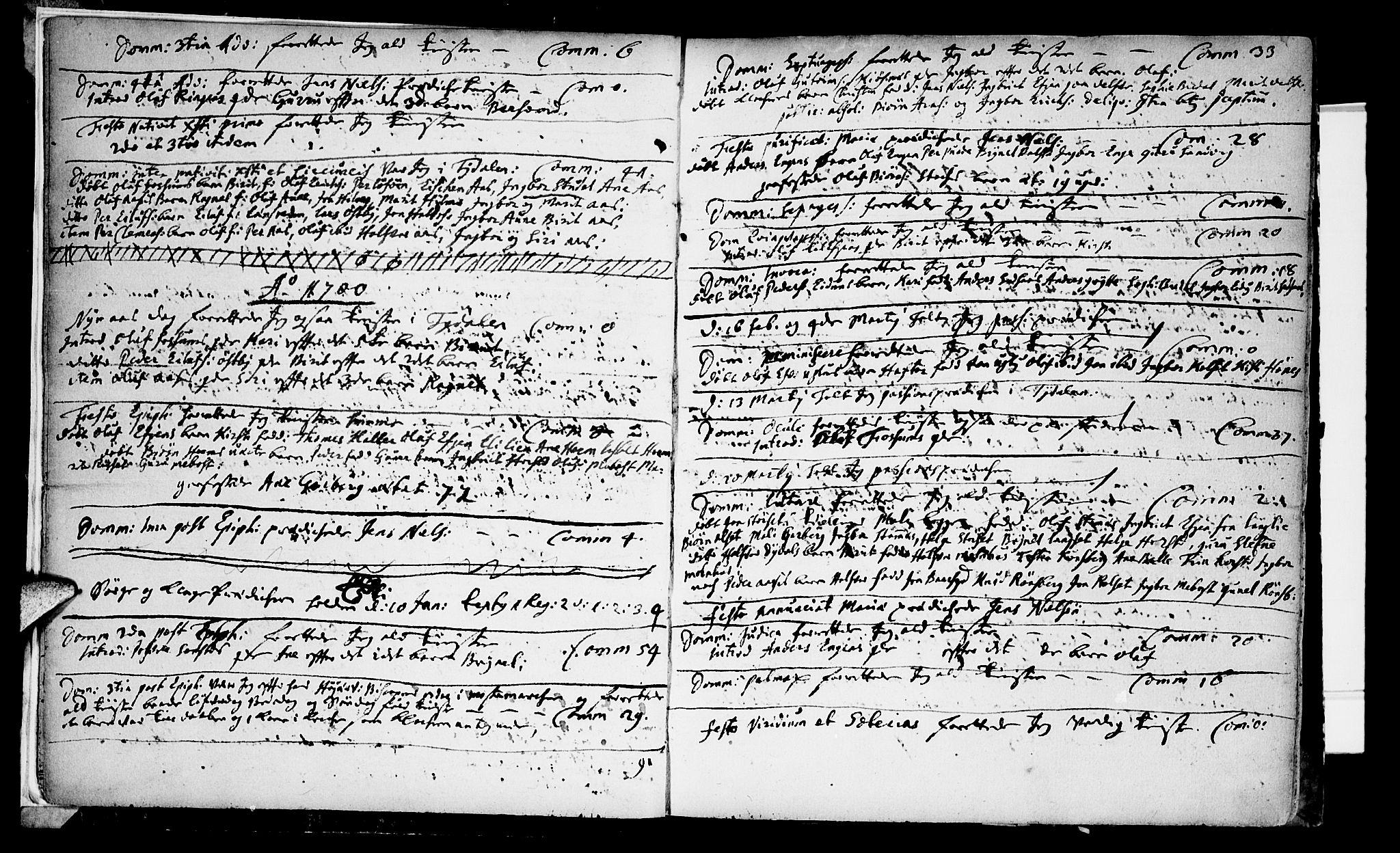 SAT, Ministerialprotokoller, klokkerbøker og fødselsregistre - Sør-Trøndelag, 695/L1137: Ministerialbok nr. 695A01, 1699-1737