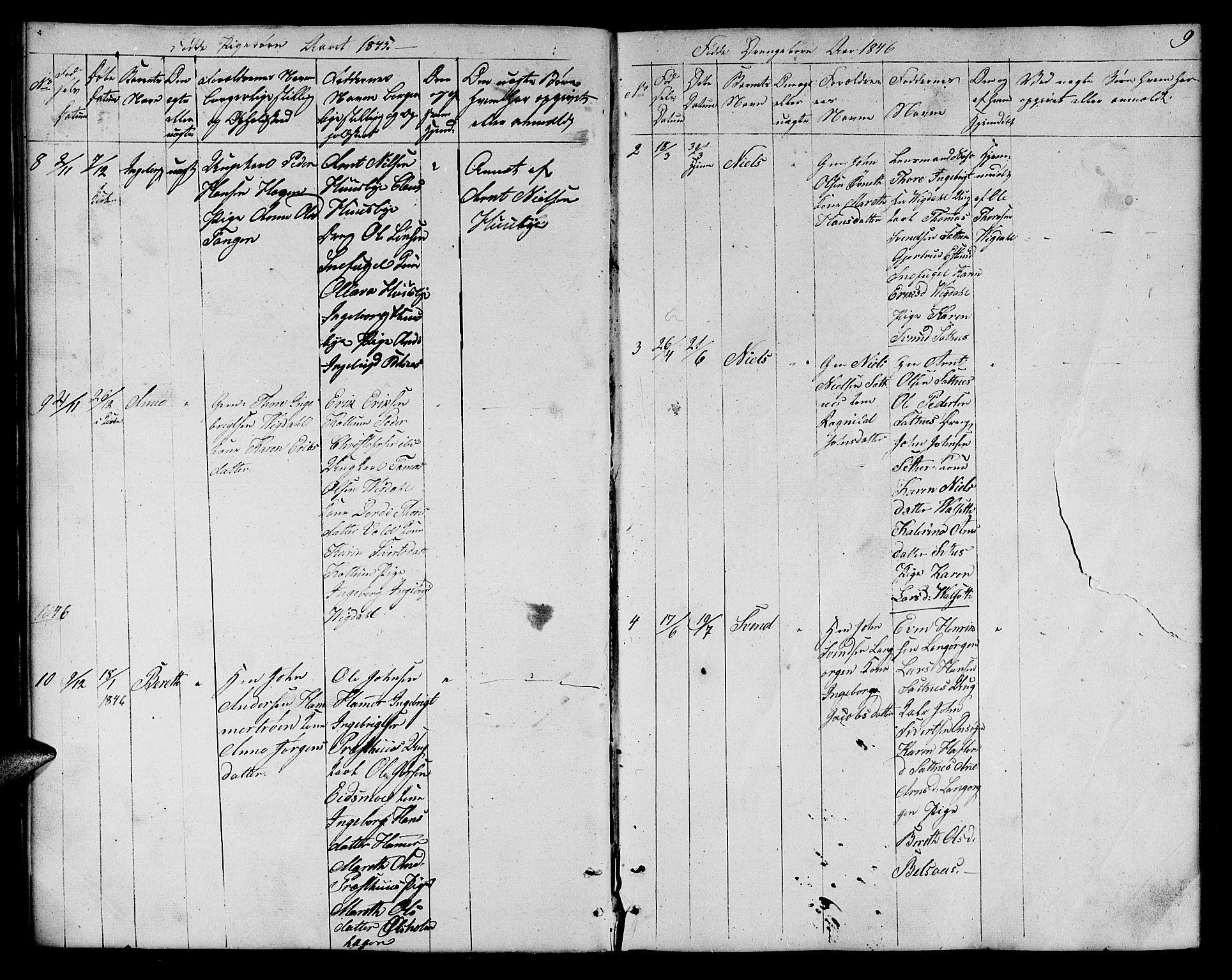 SAT, Ministerialprotokoller, klokkerbøker og fødselsregistre - Sør-Trøndelag, 666/L0789: Klokkerbok nr. 666C02, 1843-1847, s. 9