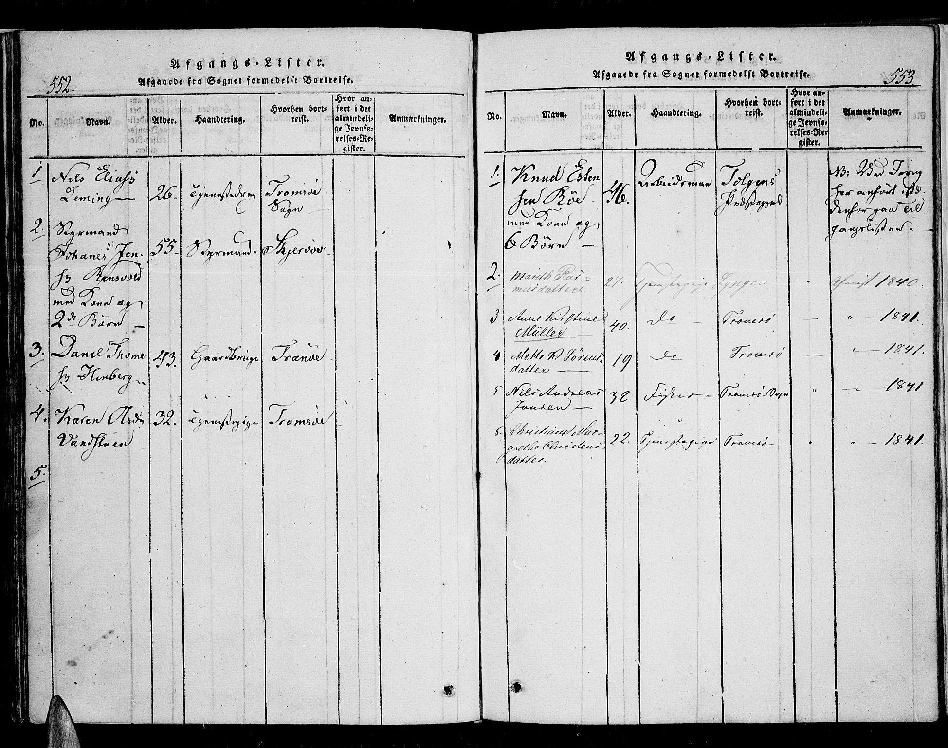 SATØ, Karlsøy sokneprestembete, H/Ha/Haa/L0002kirke: Ministerialbok nr. 2, 1823-1842, s. 552-553