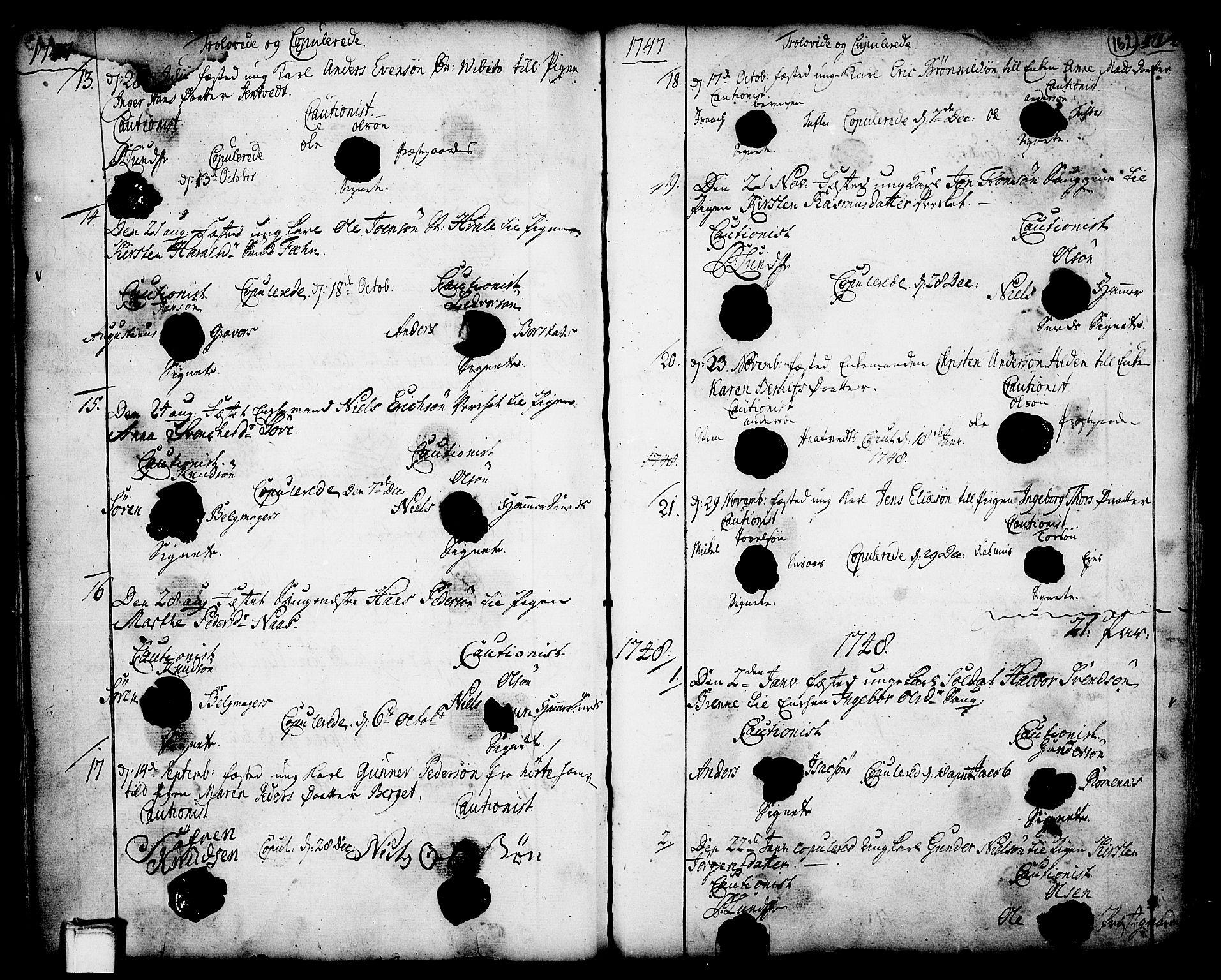 SAKO, Holla kirkebøker, F/Fa/L0001: Ministerialbok nr. 1, 1717-1779, s. 162