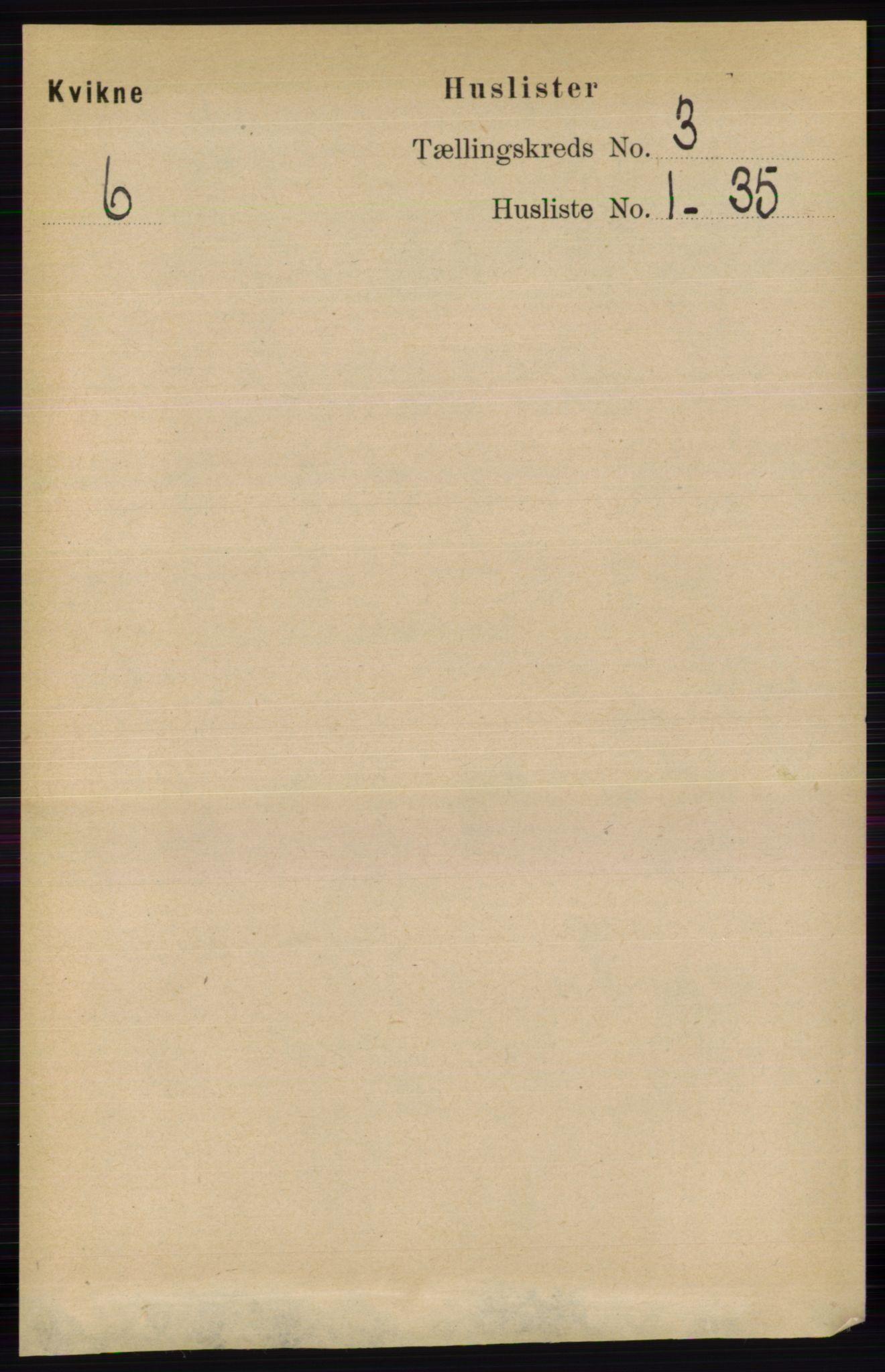 RA, Folketelling 1891 for 0440 Kvikne herred, 1891, s. 643