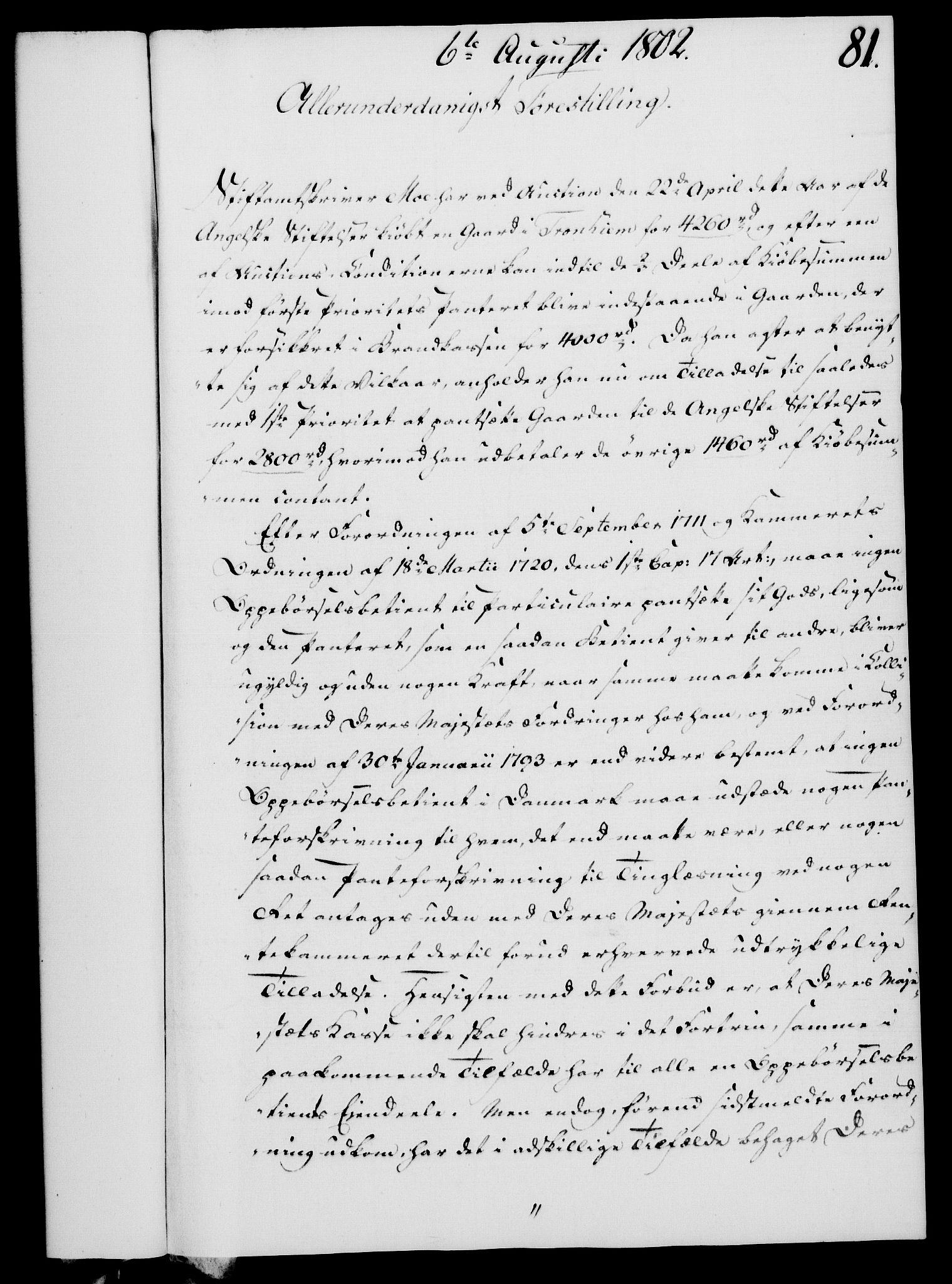 RA, Rentekammeret, Kammerkanselliet, G/Gf/Gfa/L0084: Norsk relasjons- og resolusjonsprotokoll (merket RK 52.84), 1802, s. 500