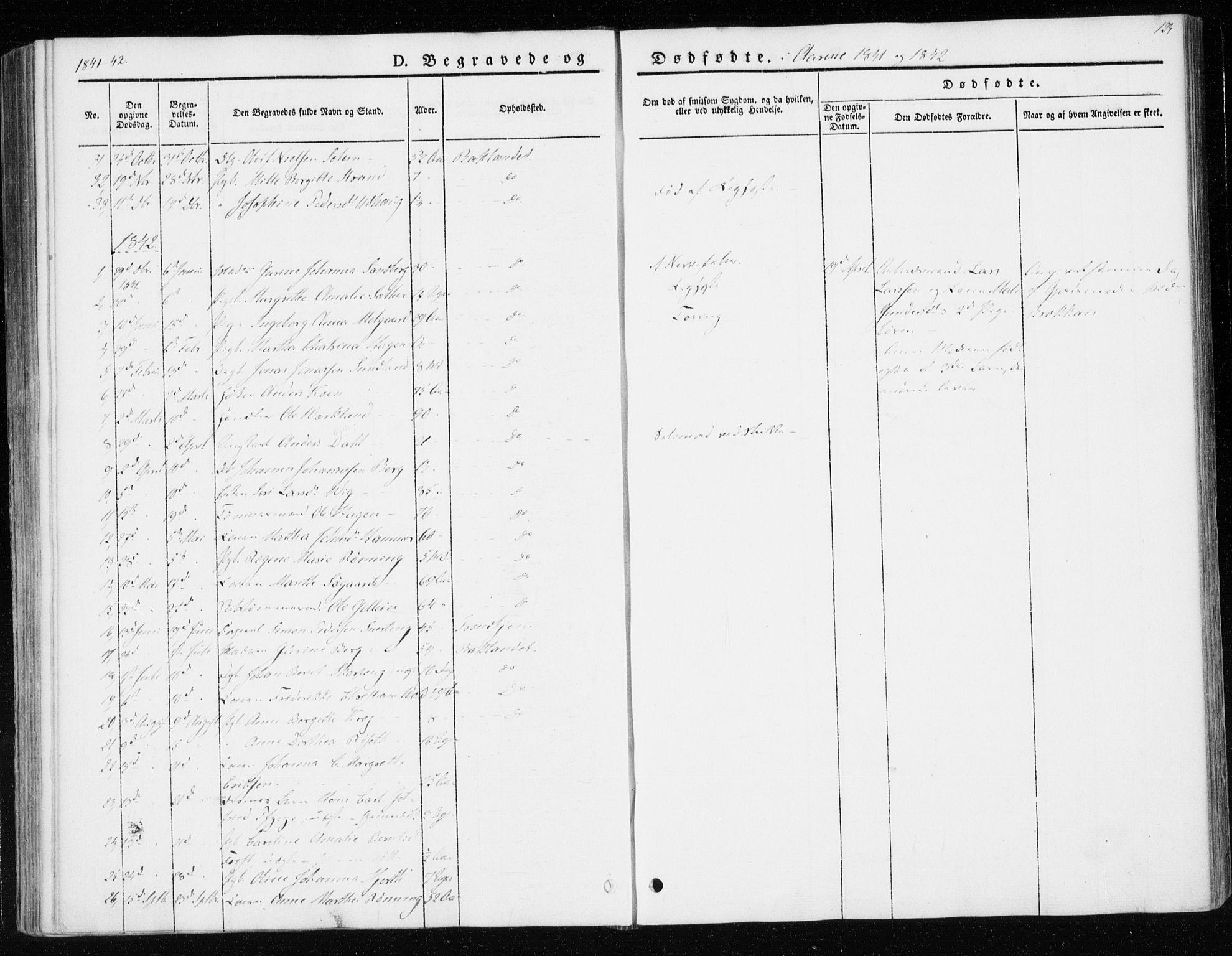 SAT, Ministerialprotokoller, klokkerbøker og fødselsregistre - Sør-Trøndelag, 604/L0183: Ministerialbok nr. 604A04, 1841-1850, s. 123