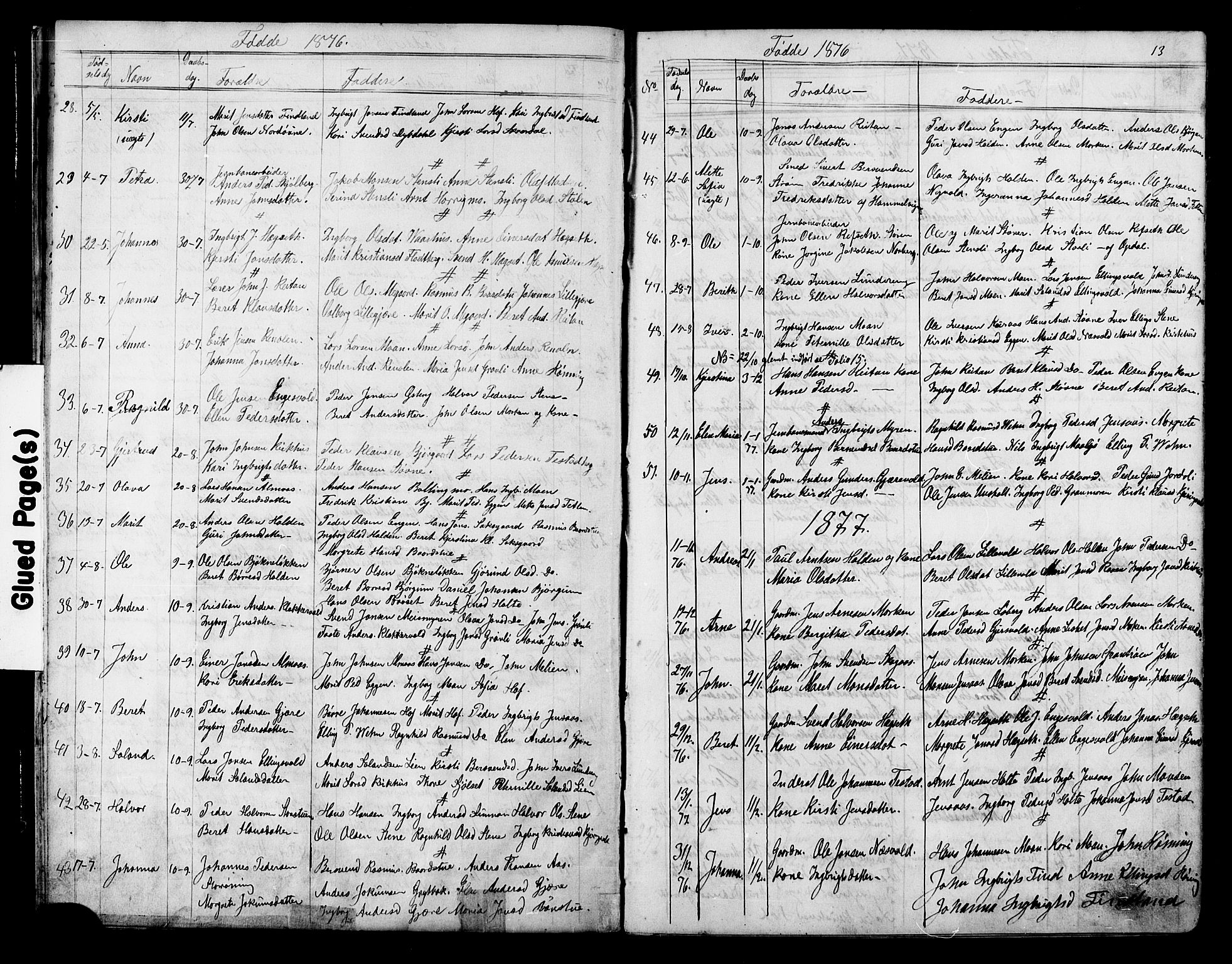 SAT, Ministerialprotokoller, klokkerbøker og fødselsregistre - Sør-Trøndelag, 686/L0985: Klokkerbok nr. 686C01, 1871-1933, s. 13