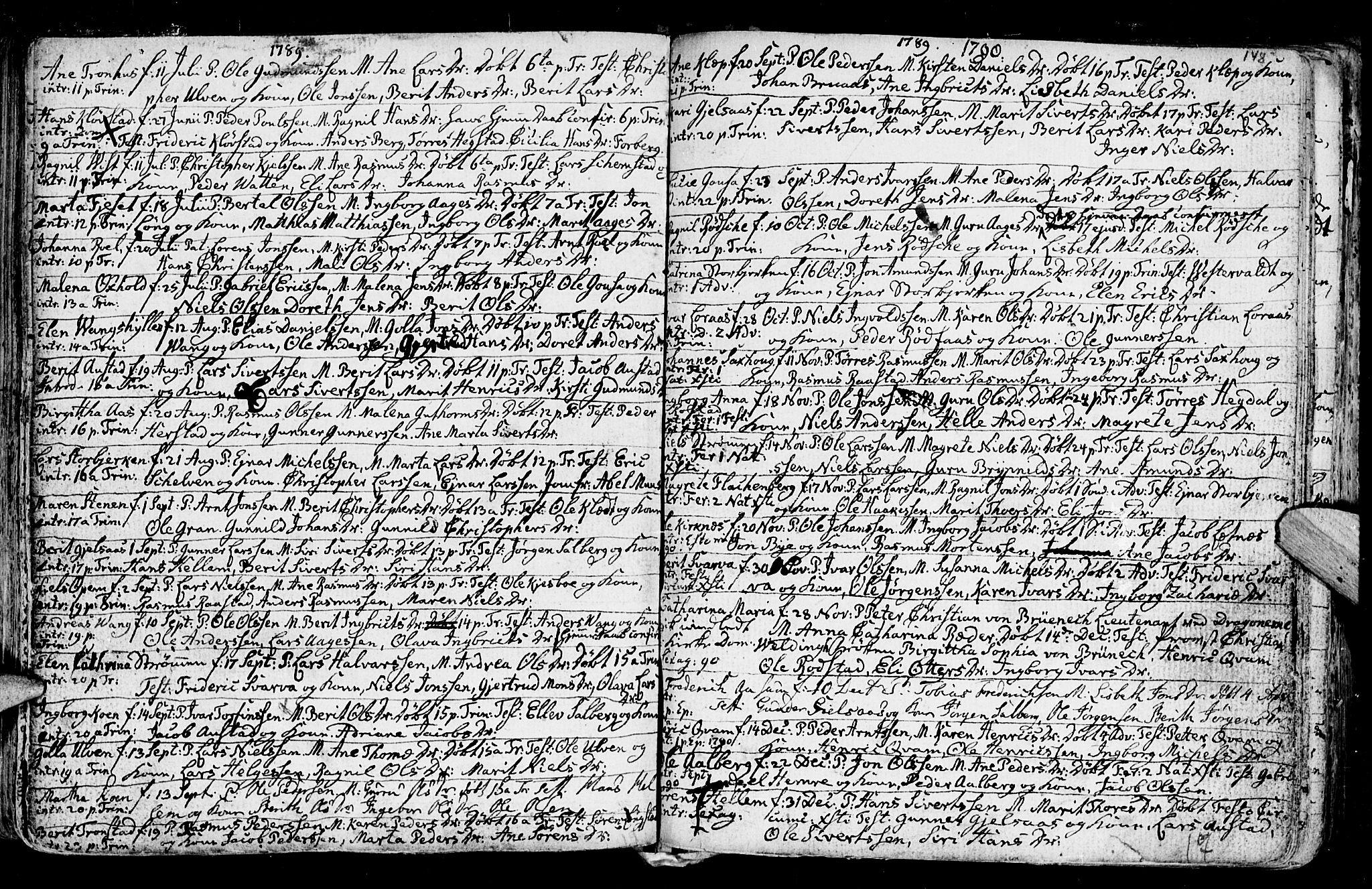 SAT, Ministerialprotokoller, klokkerbøker og fødselsregistre - Nord-Trøndelag, 730/L0273: Ministerialbok nr. 730A02, 1762-1802, s. 148