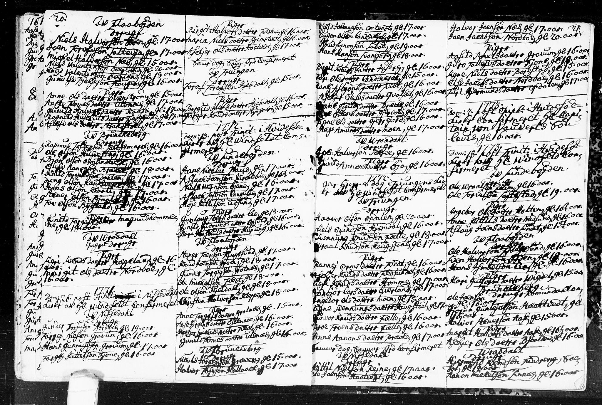 SAKO, Kviteseid kirkebøker, F/Fa/L0001: Ministerialbok nr. I 1, 1754-1773, s. 20-21