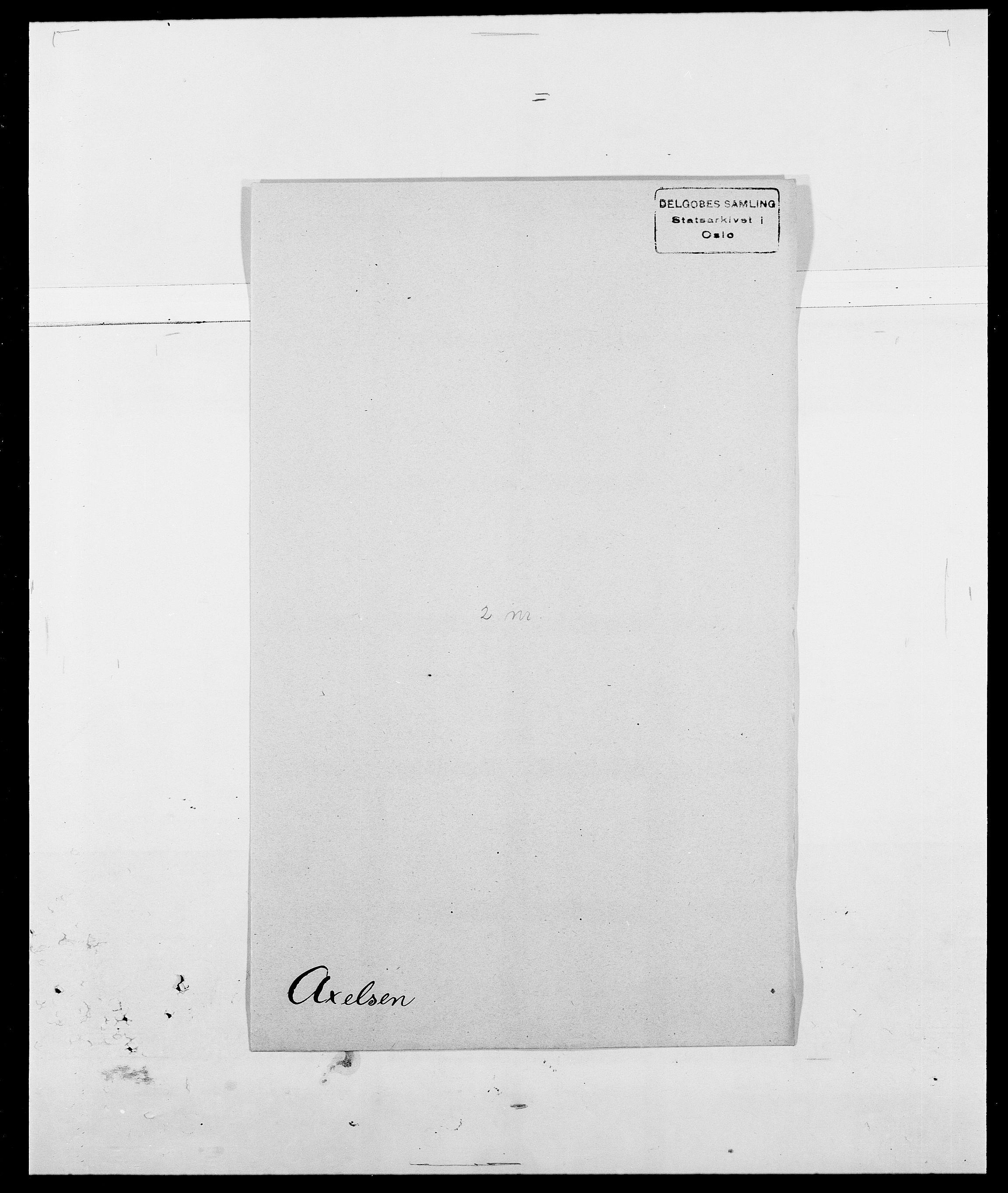 SAO, Delgobe, Charles Antoine - samling, D/Da/L0002: Anker, Ancher - Bauner, s. 531