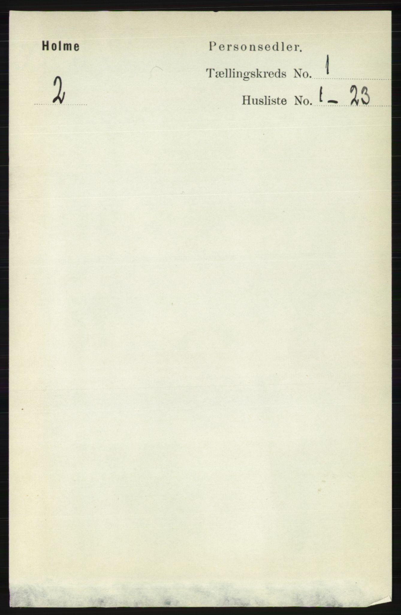 RA, Folketelling 1891 for 1020 Holum herred, 1891, s. 46