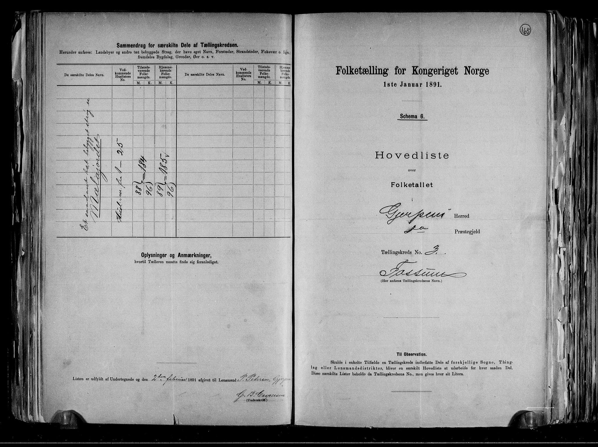 RA, Folketelling 1891 for 0812 Gjerpen herred, 1891, s. 12