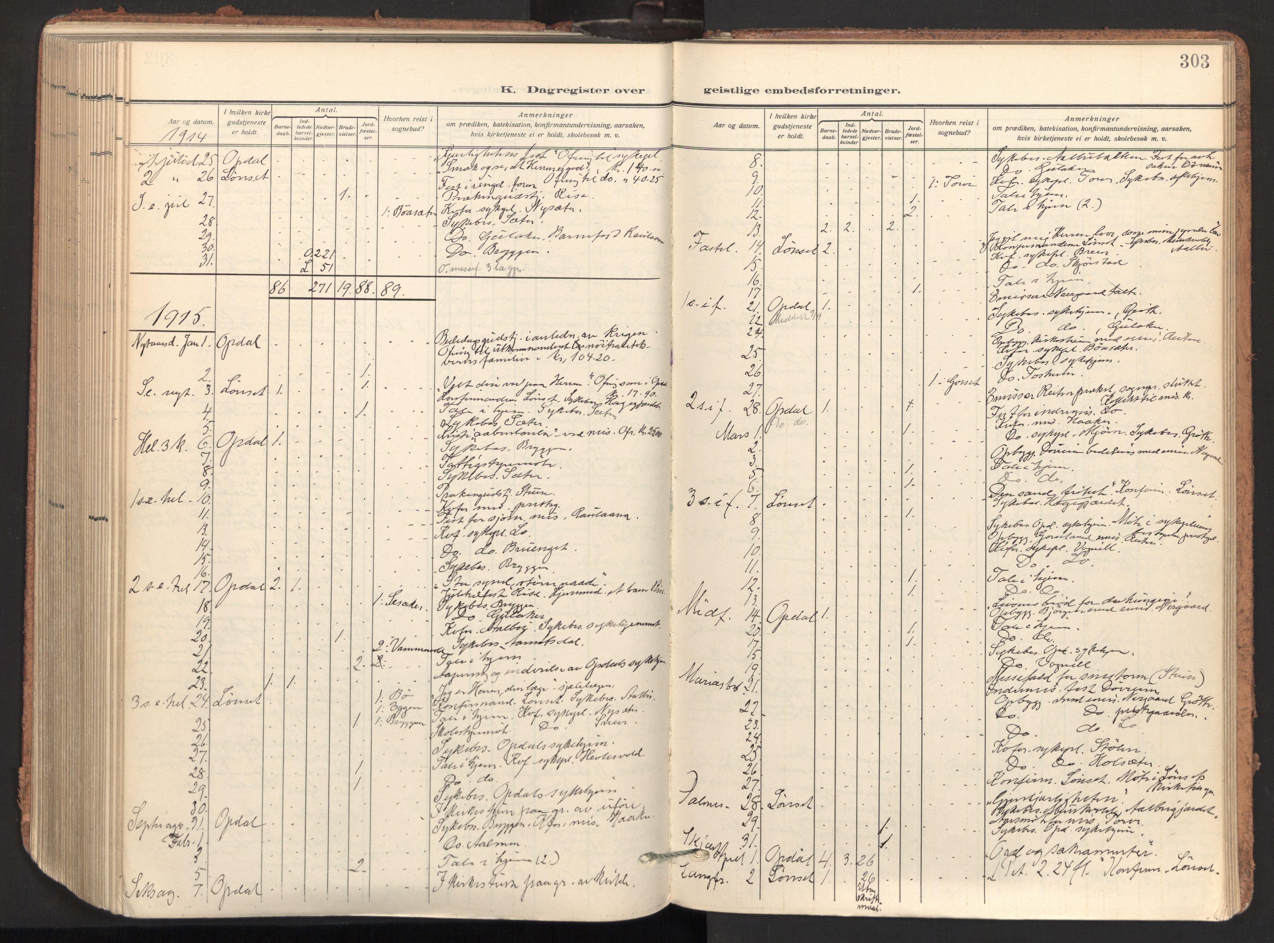SAT, Ministerialprotokoller, klokkerbøker og fødselsregistre - Sør-Trøndelag, 678/L0909: Ministerialbok nr. 678A17, 1912-1930, s. 303