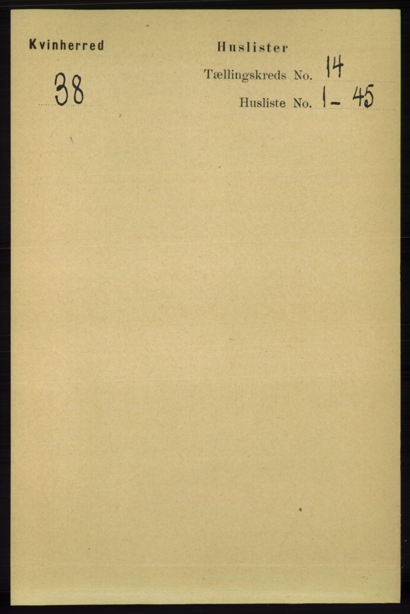 RA, Folketelling 1891 for 1224 Kvinnherad herred, 1891, s. 4619