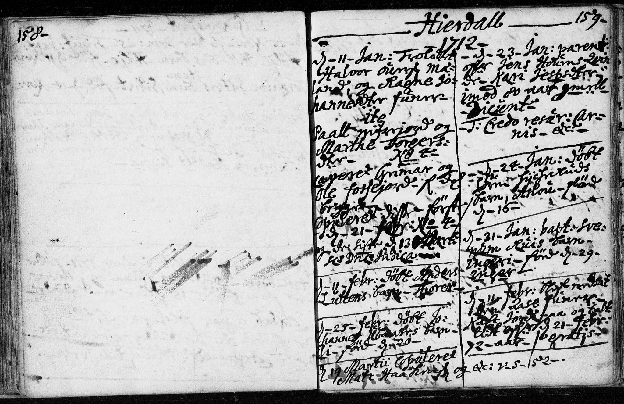 SAKO, Hjartdal kirkebøker, F/Fa/L0001: Ministerialbok nr. I 1, 1685-1714, s. 158-159
