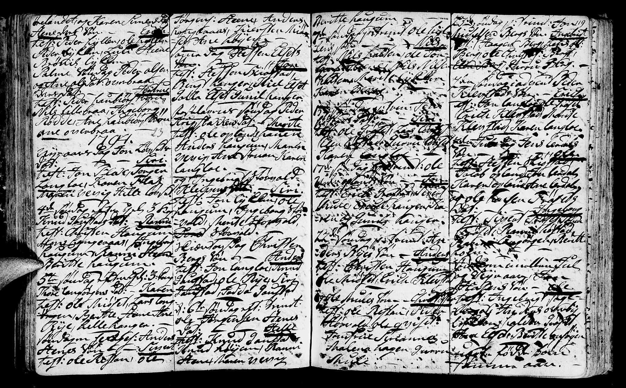 SAT, Ministerialprotokoller, klokkerbøker og fødselsregistre - Sør-Trøndelag, 612/L0370: Ministerialbok nr. 612A04, 1754-1802, s. 119