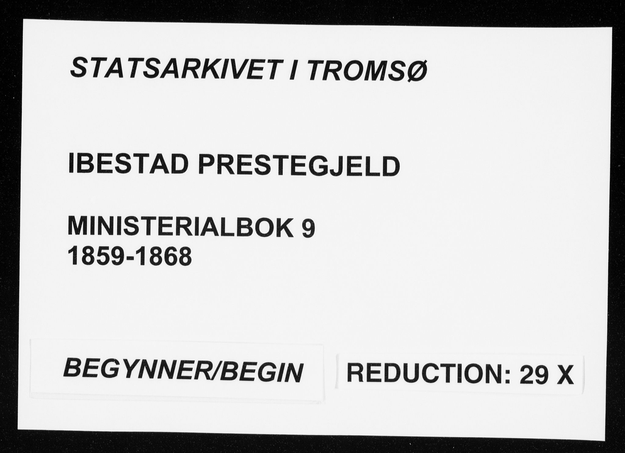 SATØ, Ibestad sokneprestembete, Ministerialbok nr. 9, 1859-1868