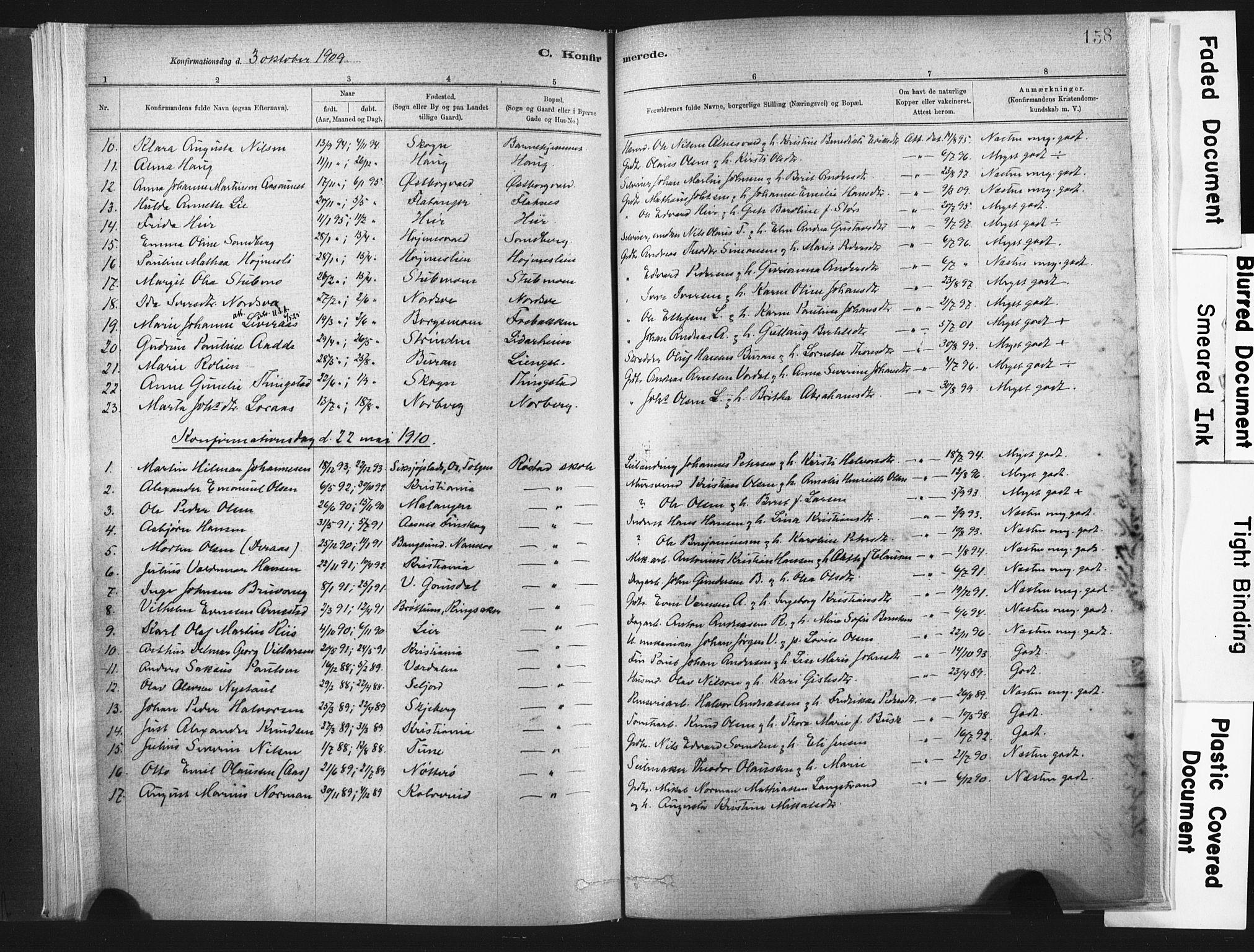 SAT, Ministerialprotokoller, klokkerbøker og fødselsregistre - Nord-Trøndelag, 721/L0207: Ministerialbok nr. 721A02, 1880-1911, s. 158