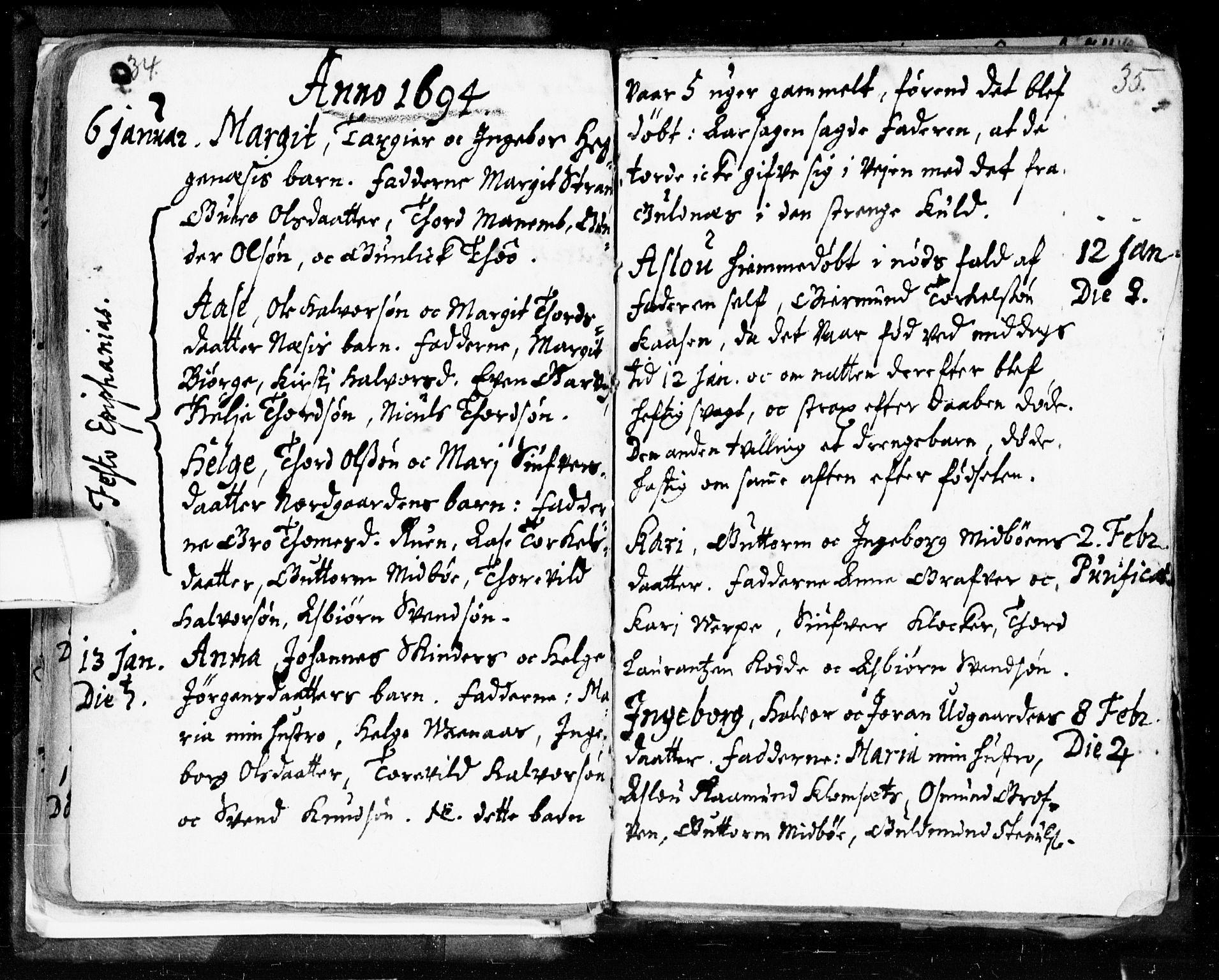 SAKO, Seljord kirkebøker, F/Fa/L0002: Ministerialbok nr. I 2, 1689-1713, s. 34-35