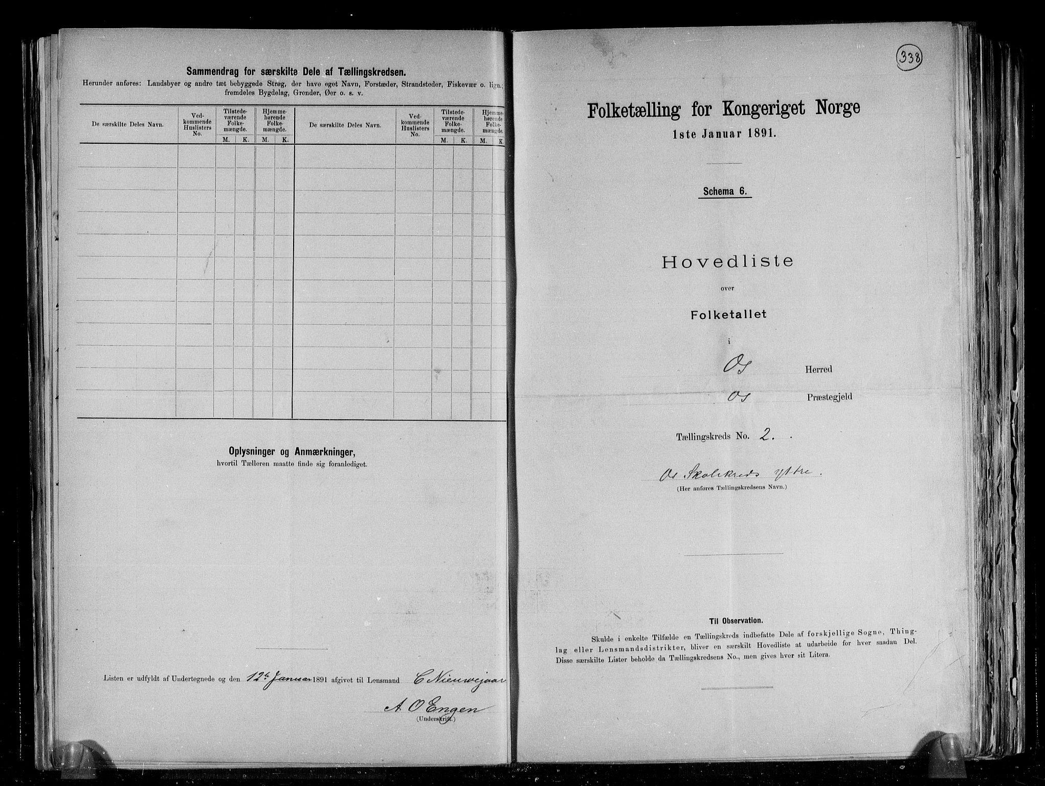 RA, Folketelling 1891 for 1243 Os herred, 1891, s. 8