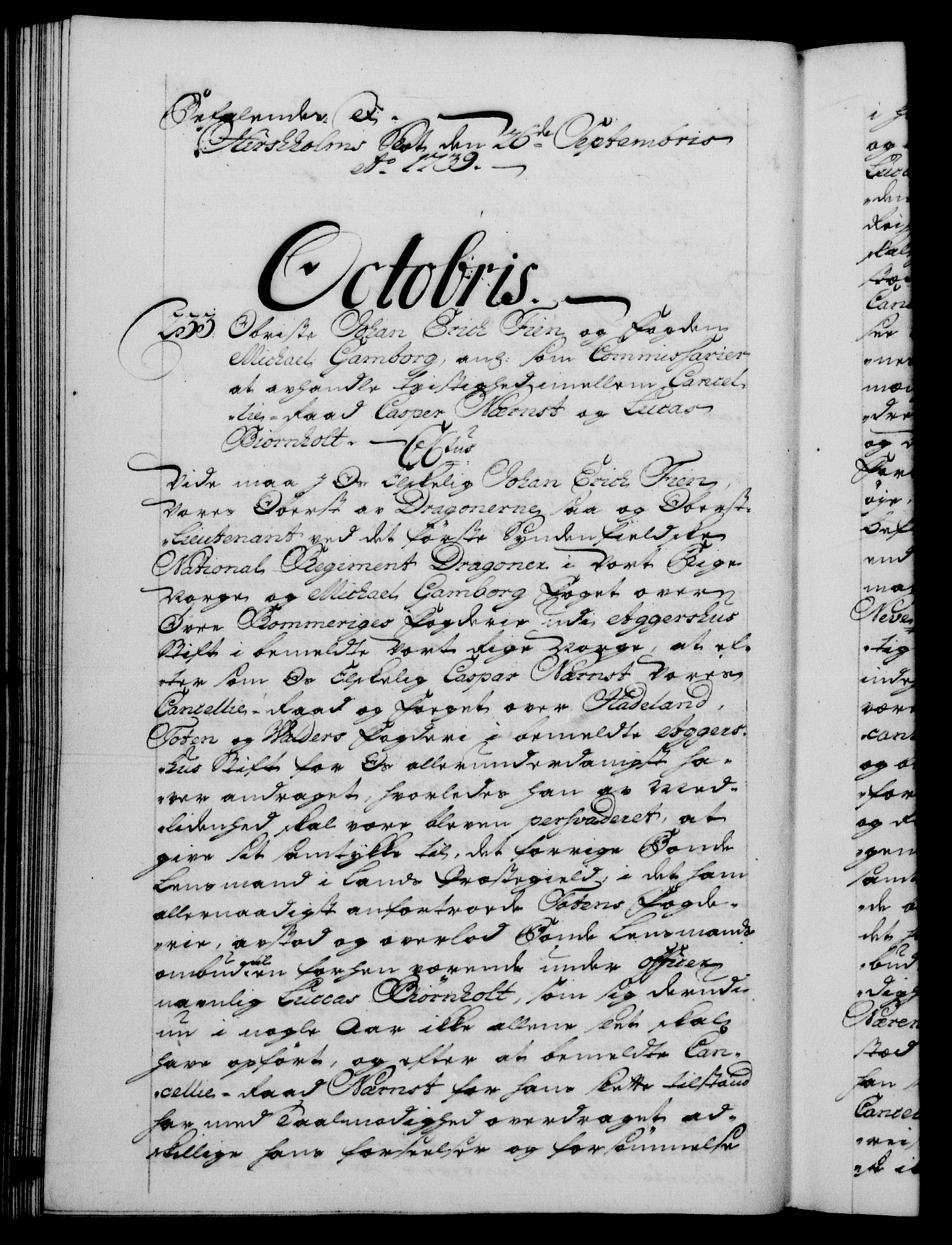 RA, Danske Kanselli 1572-1799, F/Fc/Fca/Fcab/L0028: Norske tegnelser, 1738-1740, s. 408b