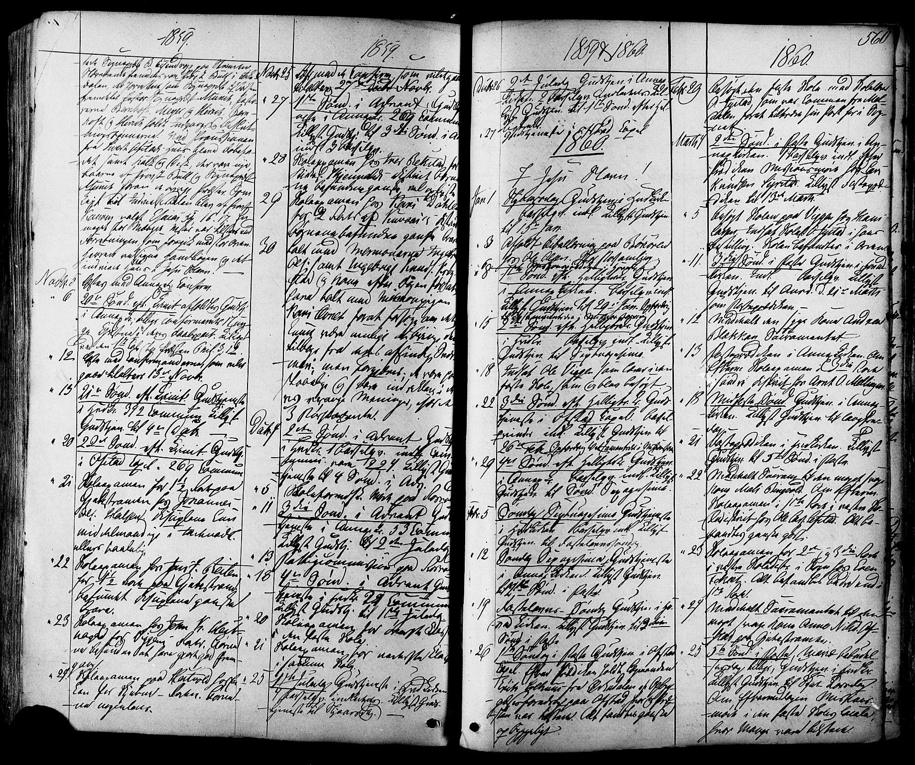 SAT, Ministerialprotokoller, klokkerbøker og fødselsregistre - Sør-Trøndelag, 665/L0772: Ministerialbok nr. 665A07, 1856-1878, s. 560