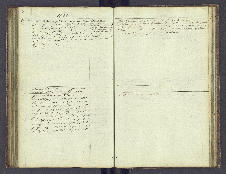 SAH, Toftes Gave, F/Fc/L0001: Elevprotokoll, 1841-1847, s. 98