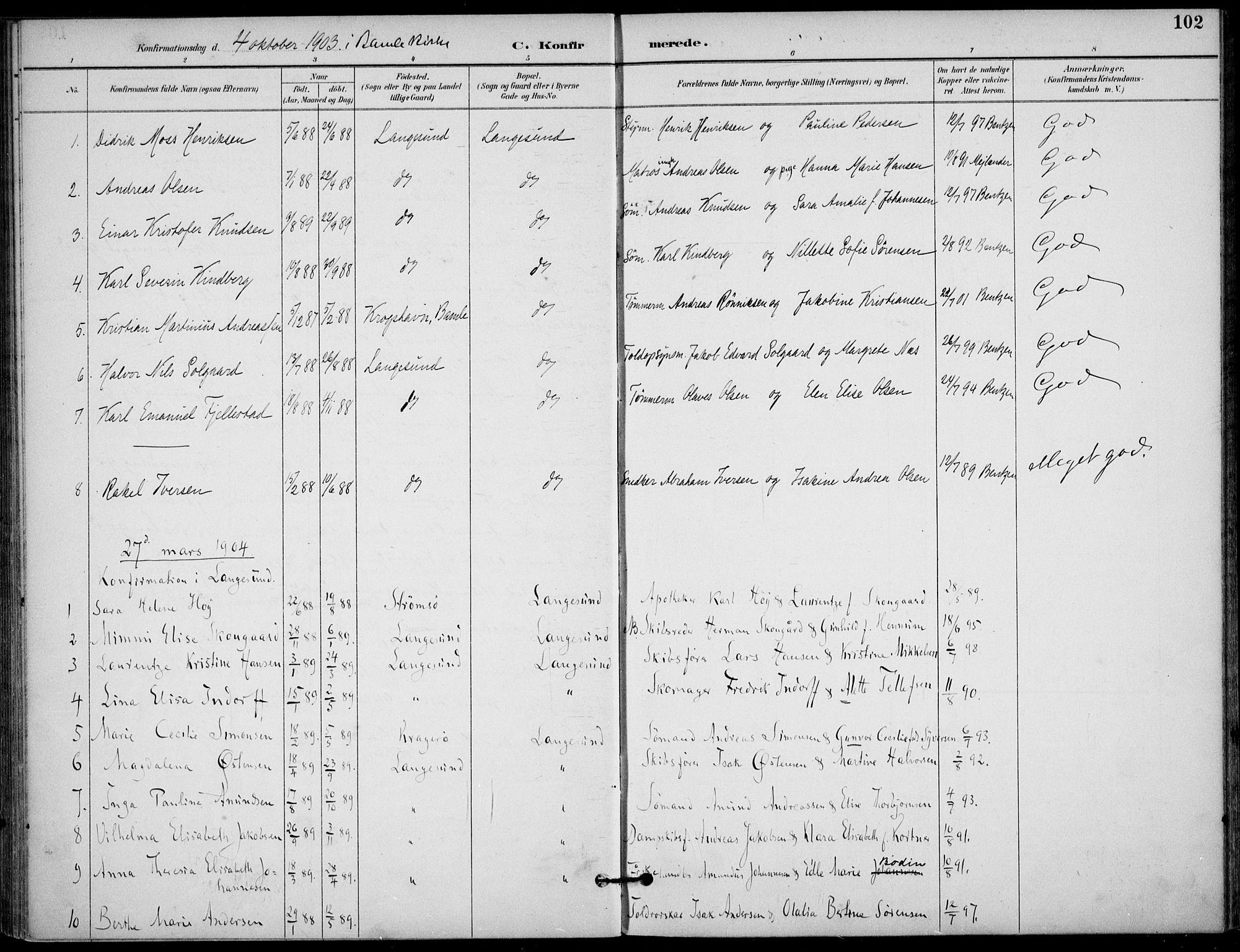 SAKO, Langesund kirkebøker, F/Fa/L0003: Ministerialbok nr. 3, 1893-1907, s. 102