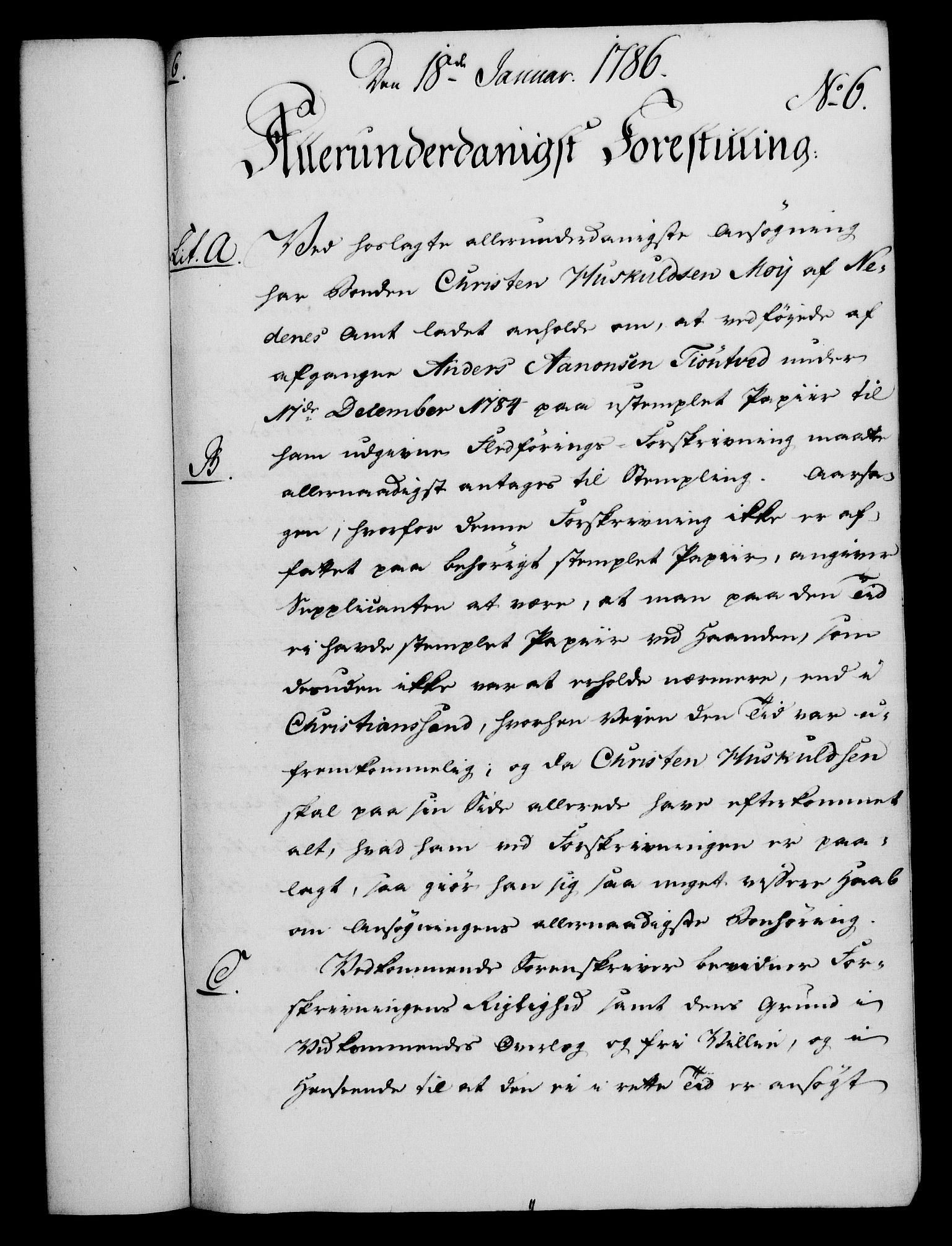 RA, Rentekammeret, Kammerkanselliet, G/Gf/Gfa/L0068: Norsk relasjons- og resolusjonsprotokoll (merket RK 52.68), 1786, s. 62
