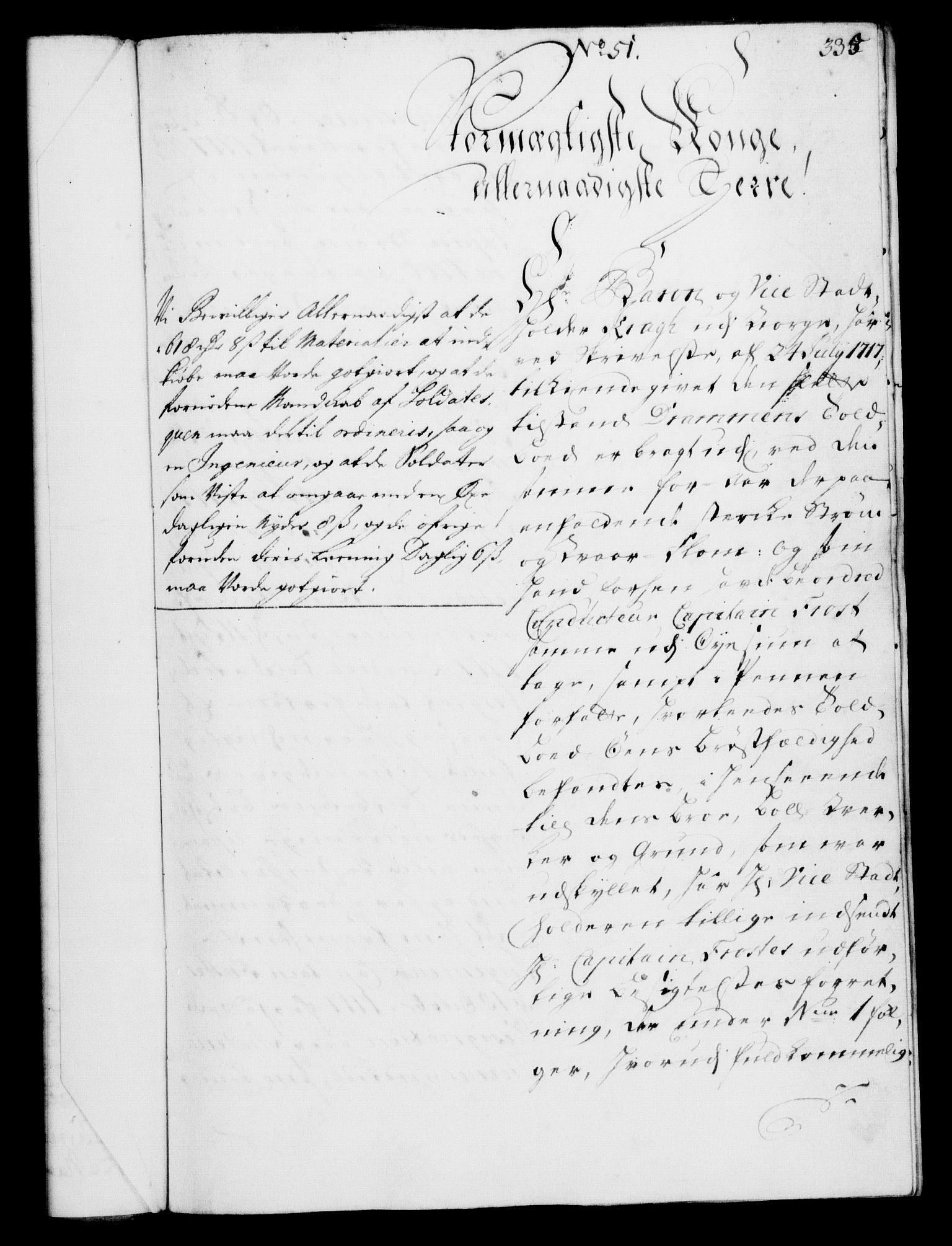 RA, Rentekammeret, Kammerkanselliet, G/Gf/Gfa/L0002: Norsk relasjons- og resolusjonsprotokoll (merket RK 52.2), 1720, s. 335