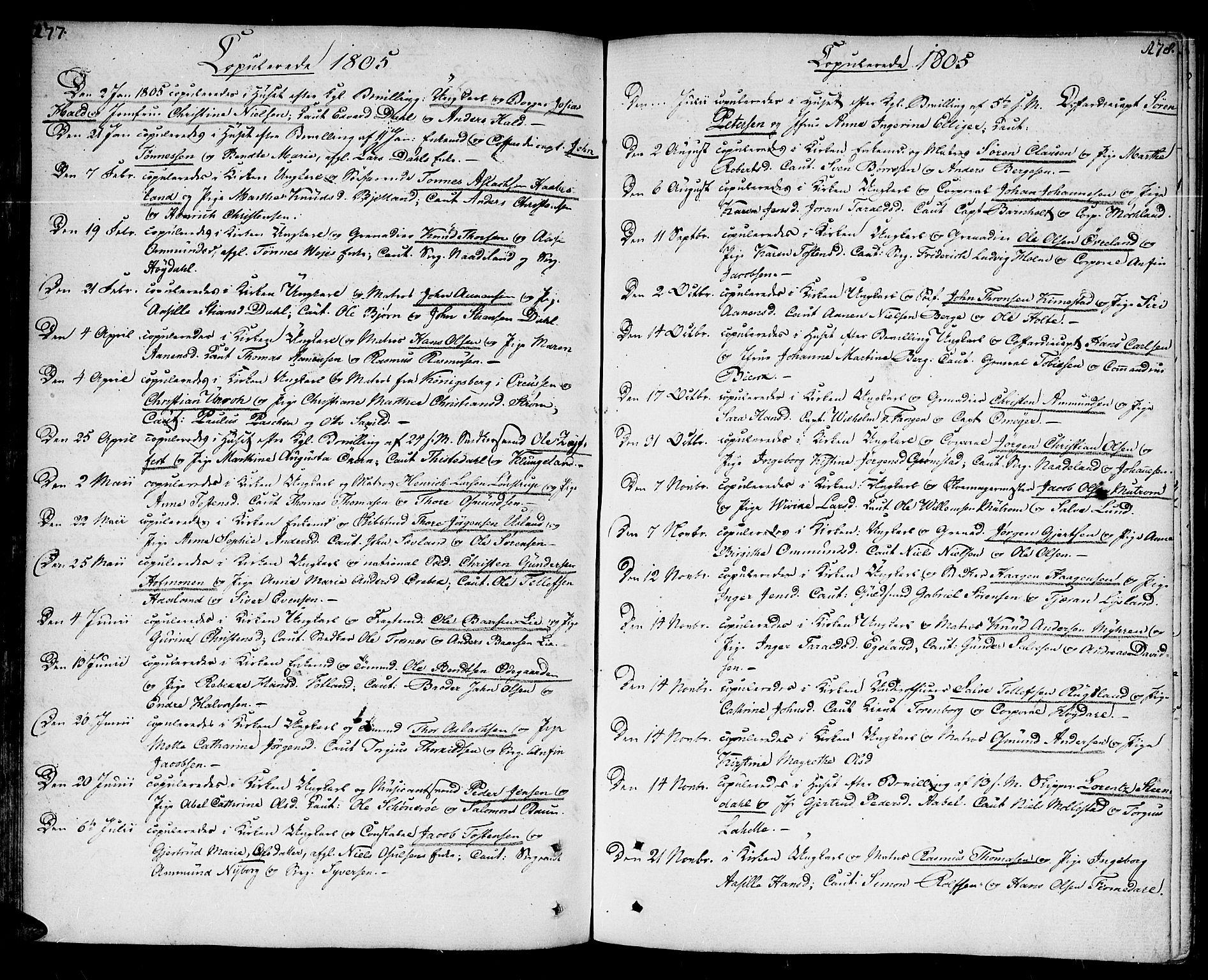 SAK, Kristiansand domprosti, F/Fa/L0005: Ministerialbok nr. A 5, 1776-1818, s. 177-178