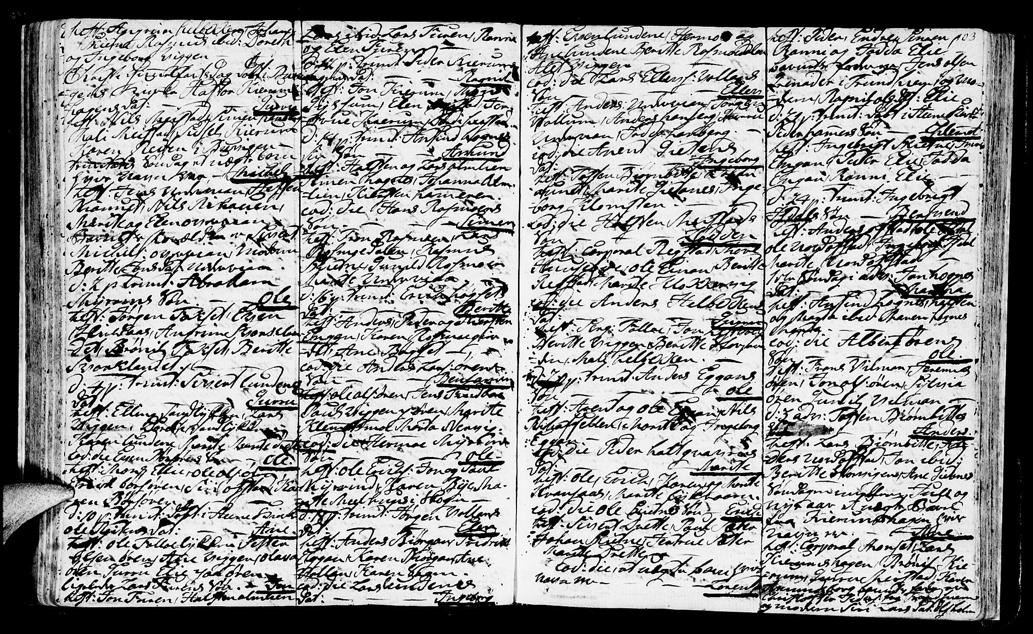 SAT, Ministerialprotokoller, klokkerbøker og fødselsregistre - Sør-Trøndelag, 665/L0768: Ministerialbok nr. 665A03, 1754-1803, s. 103