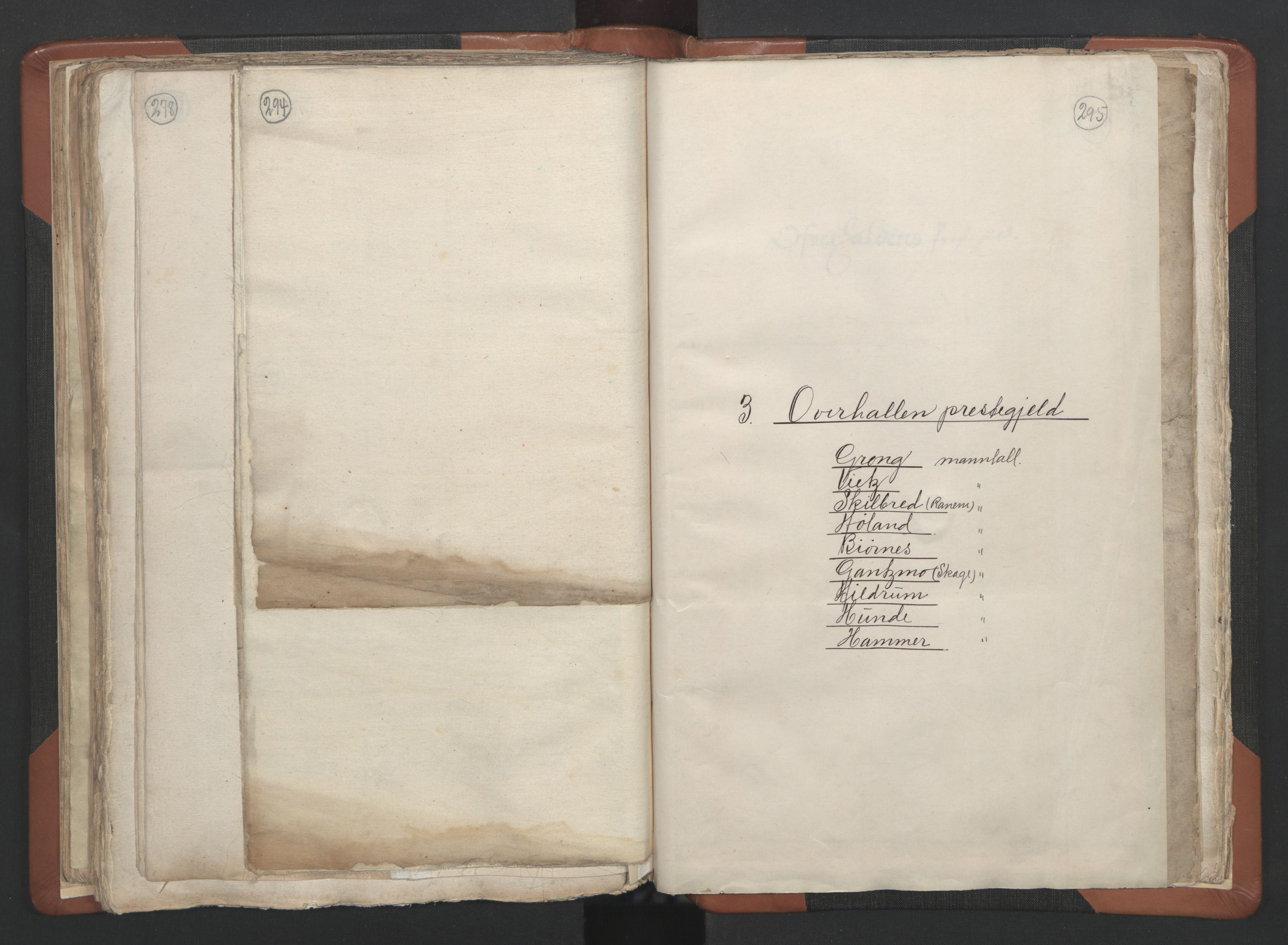 RA, Sogneprestenes manntall 1664-1666, nr. 34: Namdal prosti, 1664-1666, s. 294-295