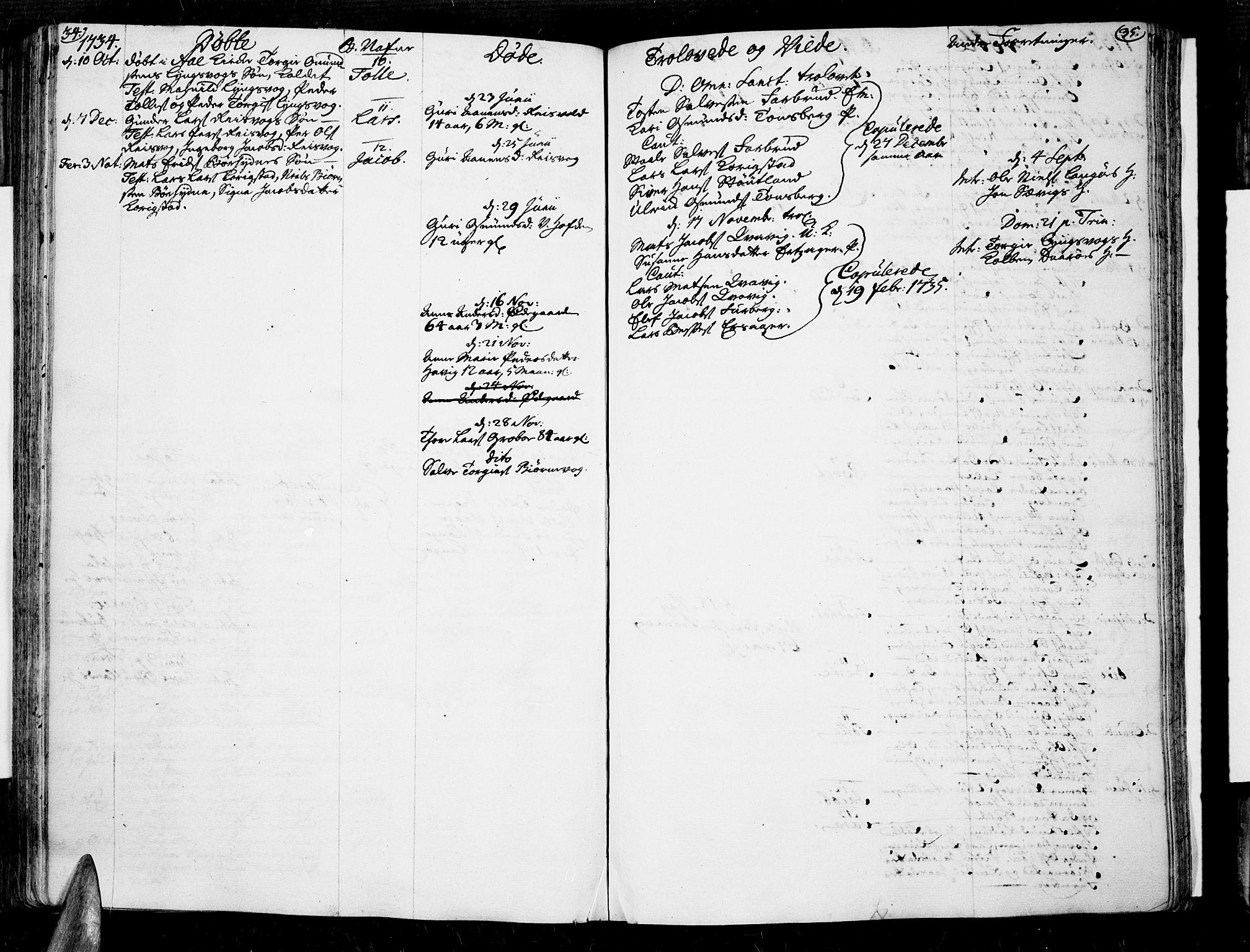 SAK, Lista sokneprestkontor, F/Fa/L0002: Ministerialbok nr. A 2 /3, 1726-1751, s. 34-35