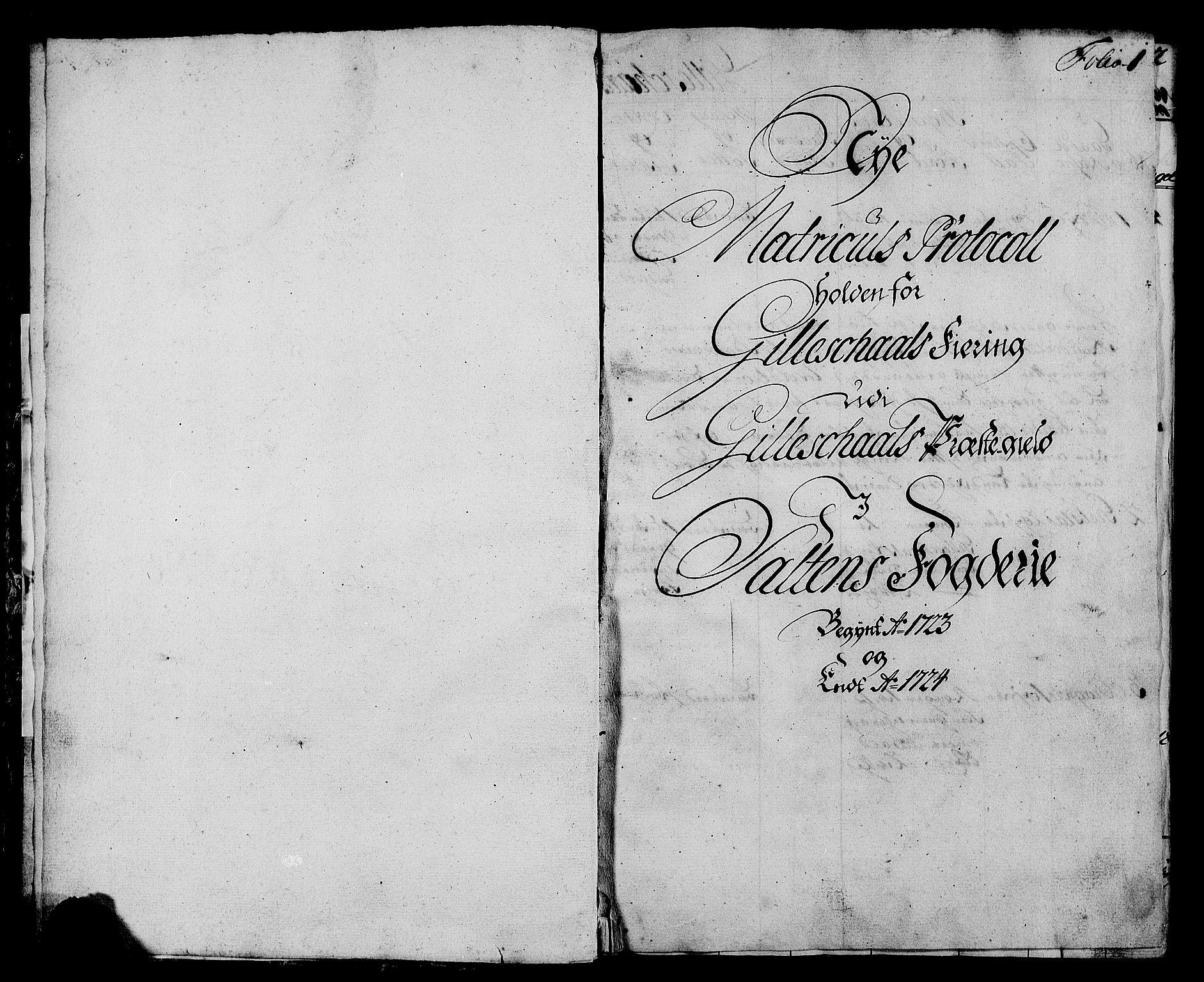 RA, Rentekammeret inntil 1814, Realistisk ordnet avdeling, N/Nb/Nbf/L0172: Salten eksaminasjonsprotokoll, 1723, s. 1a