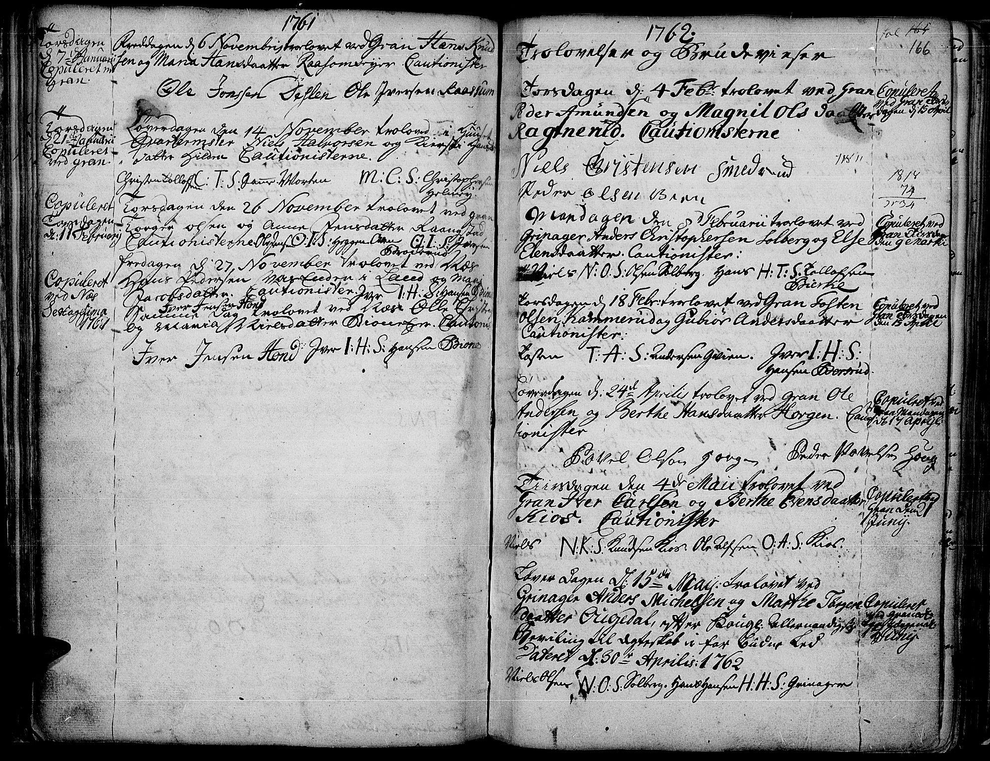 SAH, Gran prestekontor, Ministerialbok nr. 4, 1759-1775, s. 166