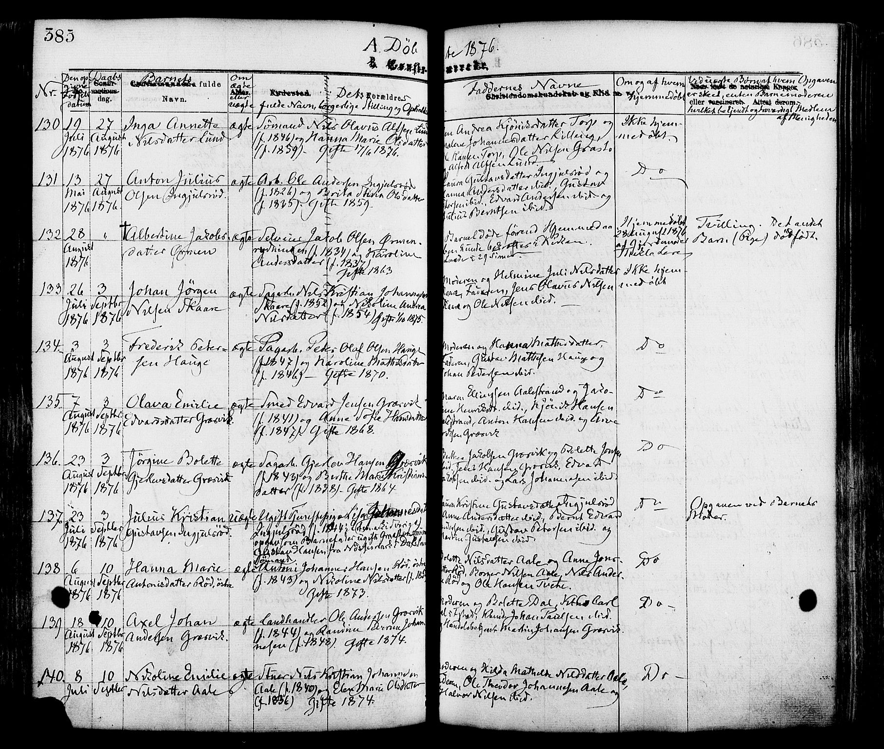 SAO, Onsøy prestekontor Kirkebøker, F/Fa/L0004: Ministerialbok nr. I 4, 1861-1877, s. 385