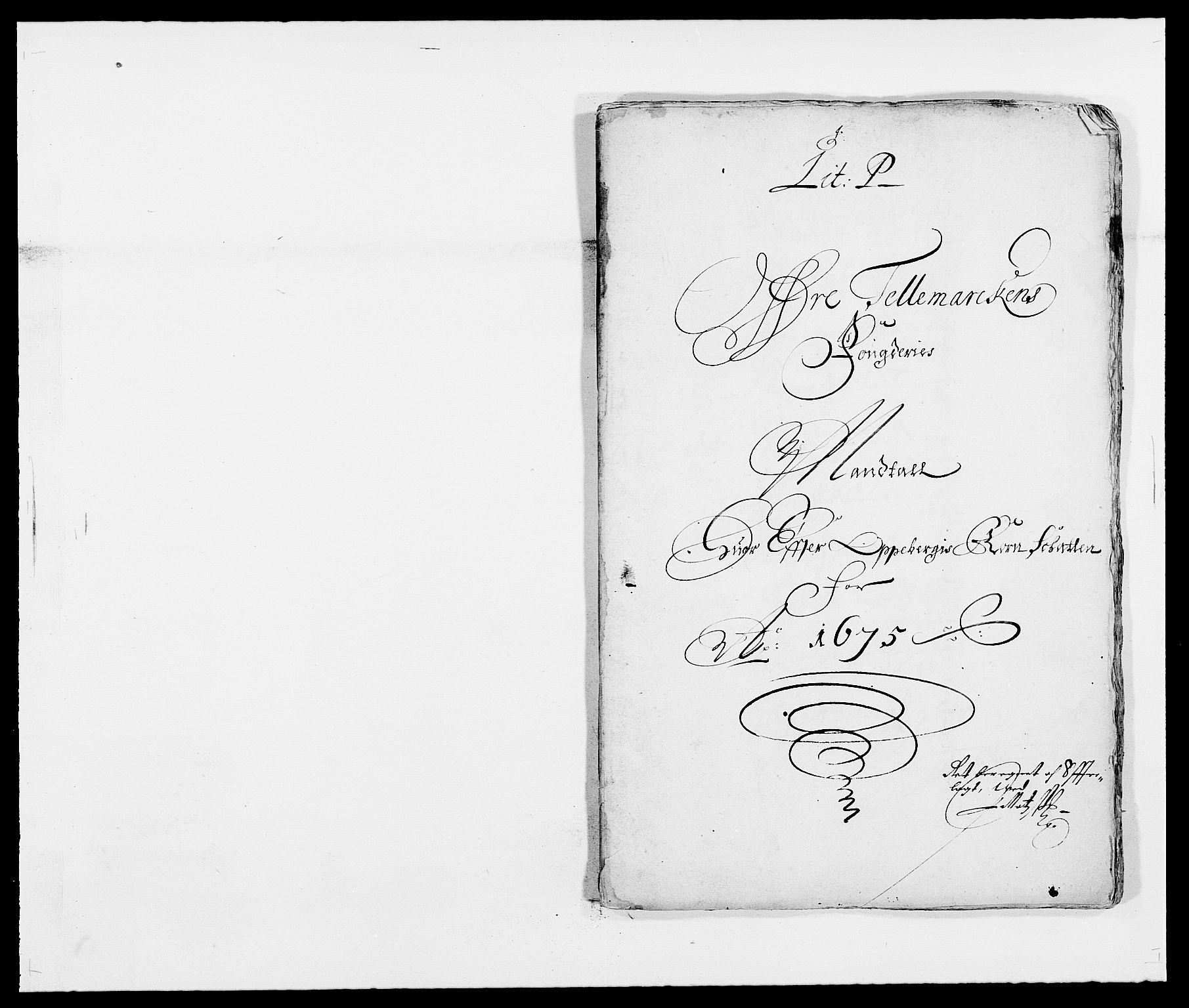 RA, Rentekammeret inntil 1814, Reviderte regnskaper, Fogderegnskap, R35/L2064: Fogderegnskap Øvre og Nedre Telemark, 1675, s. 119