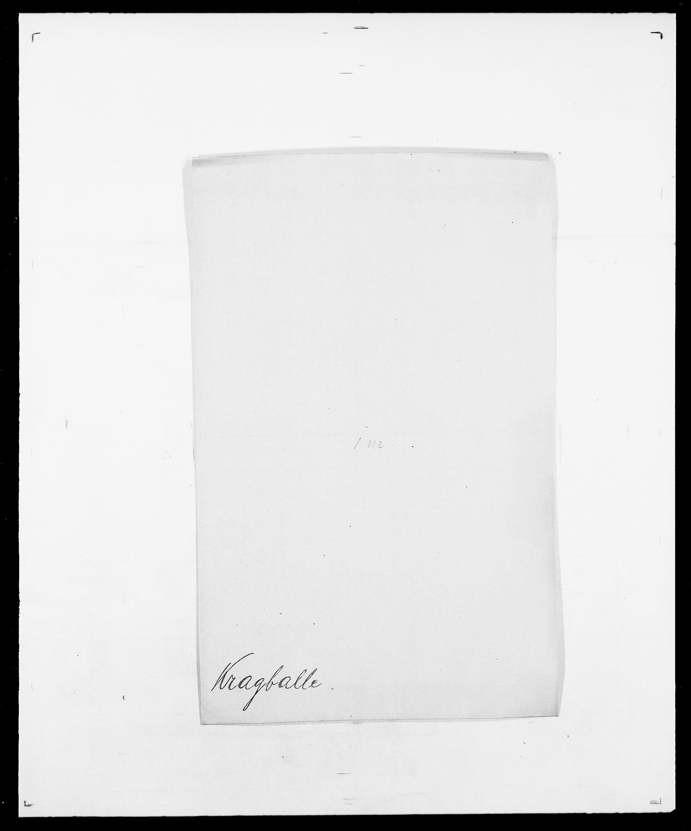 SAO, Delgobe, Charles Antoine - samling, D/Da/L0021: Klagenberg - Kristoft, s. 709