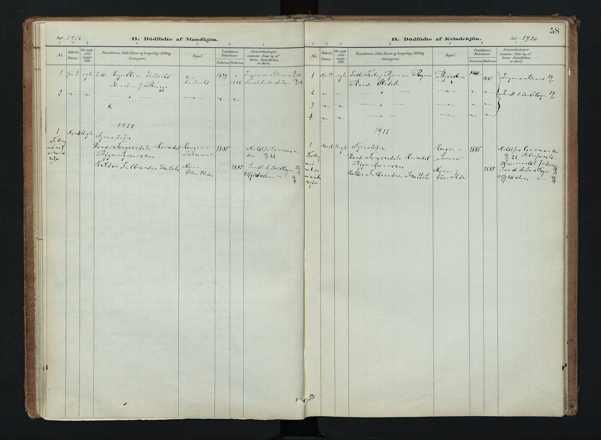SAH, Nord-Aurdal prestekontor, Ministerialbok nr. 16, 1897-1925, s. 58