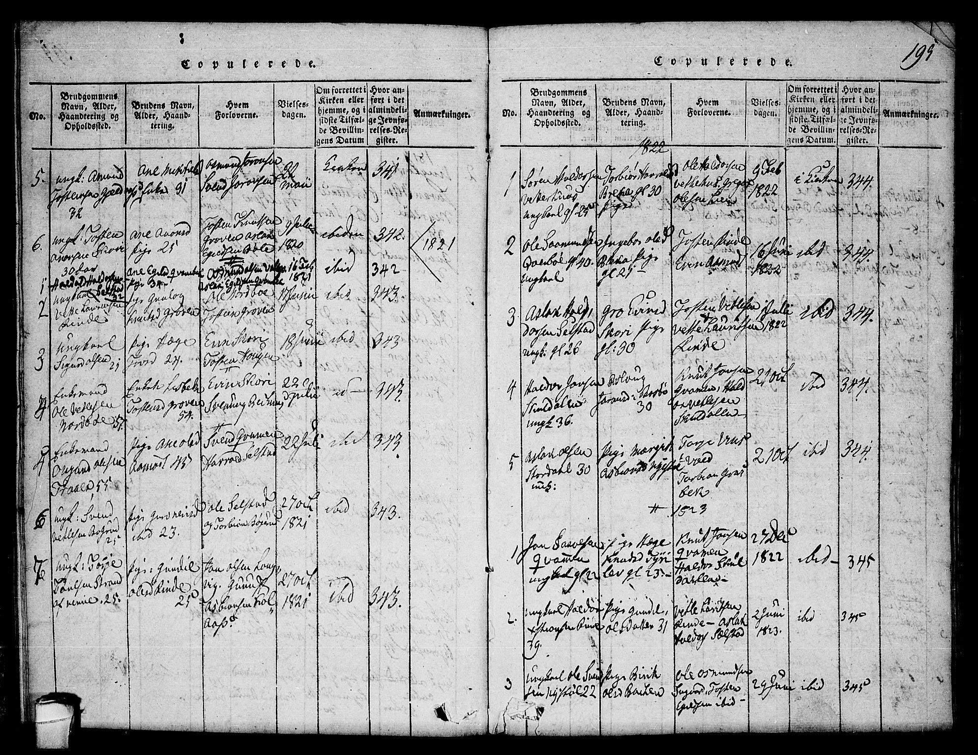 SAKO, Seljord kirkebøker, F/Fc/L0001: Ministerialbok nr. III 1, 1815-1831, s. 195