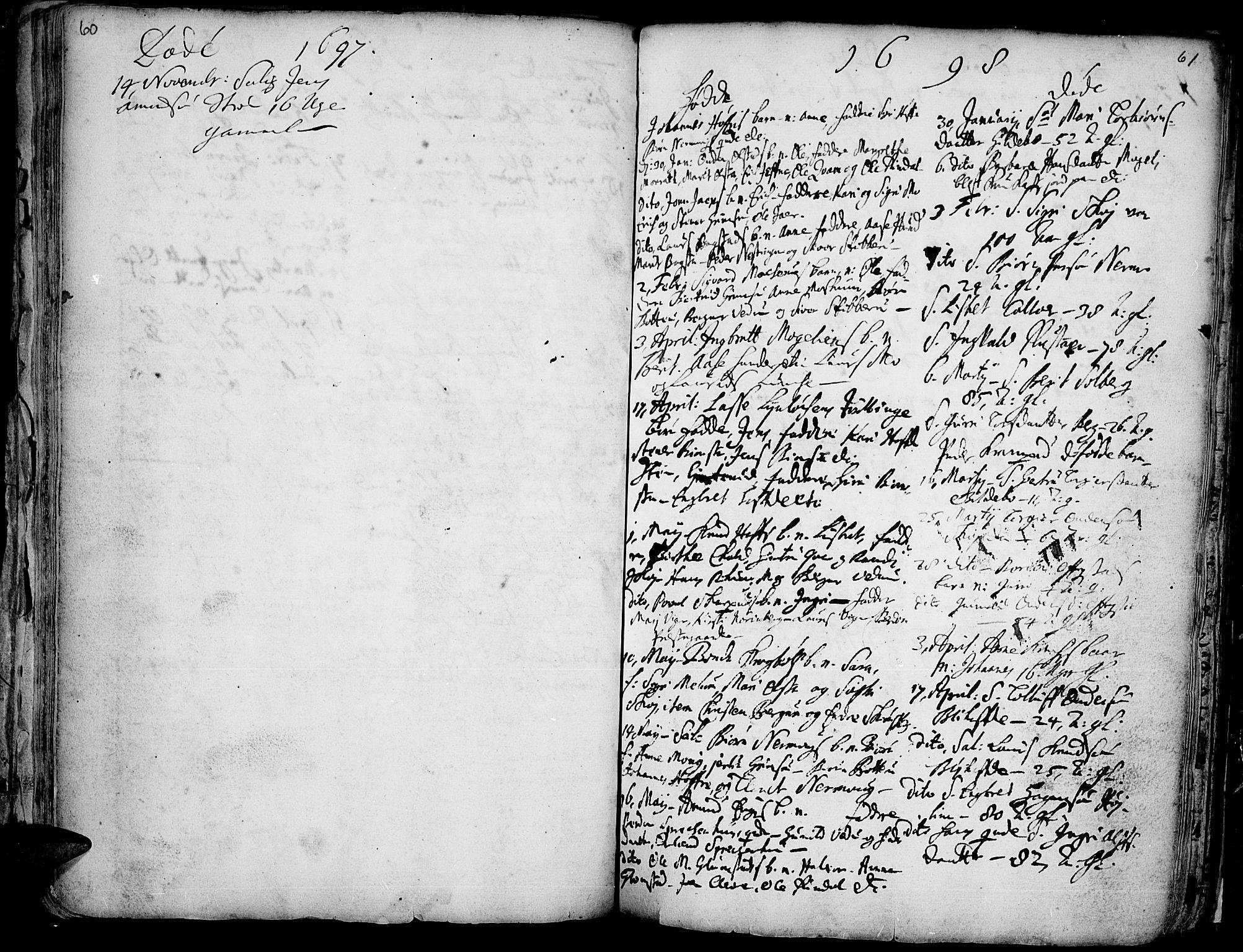SAH, Øyer prestekontor, Ministerialbok nr. 1, 1671-1727, s. 60-61