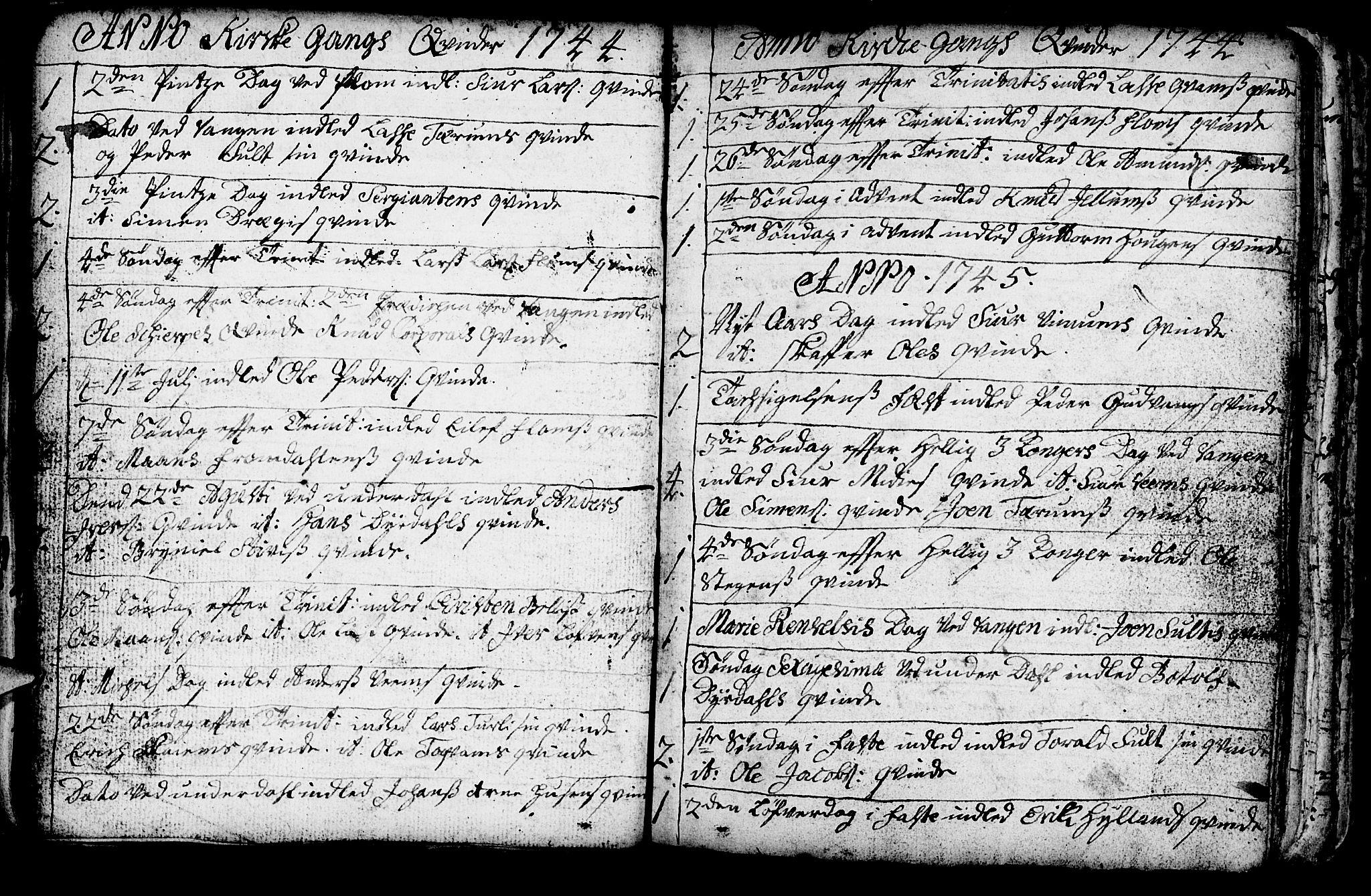SAB, Aurland Sokneprestembete*, Ministerialbok nr. A 3, 1735-1761, s. 143