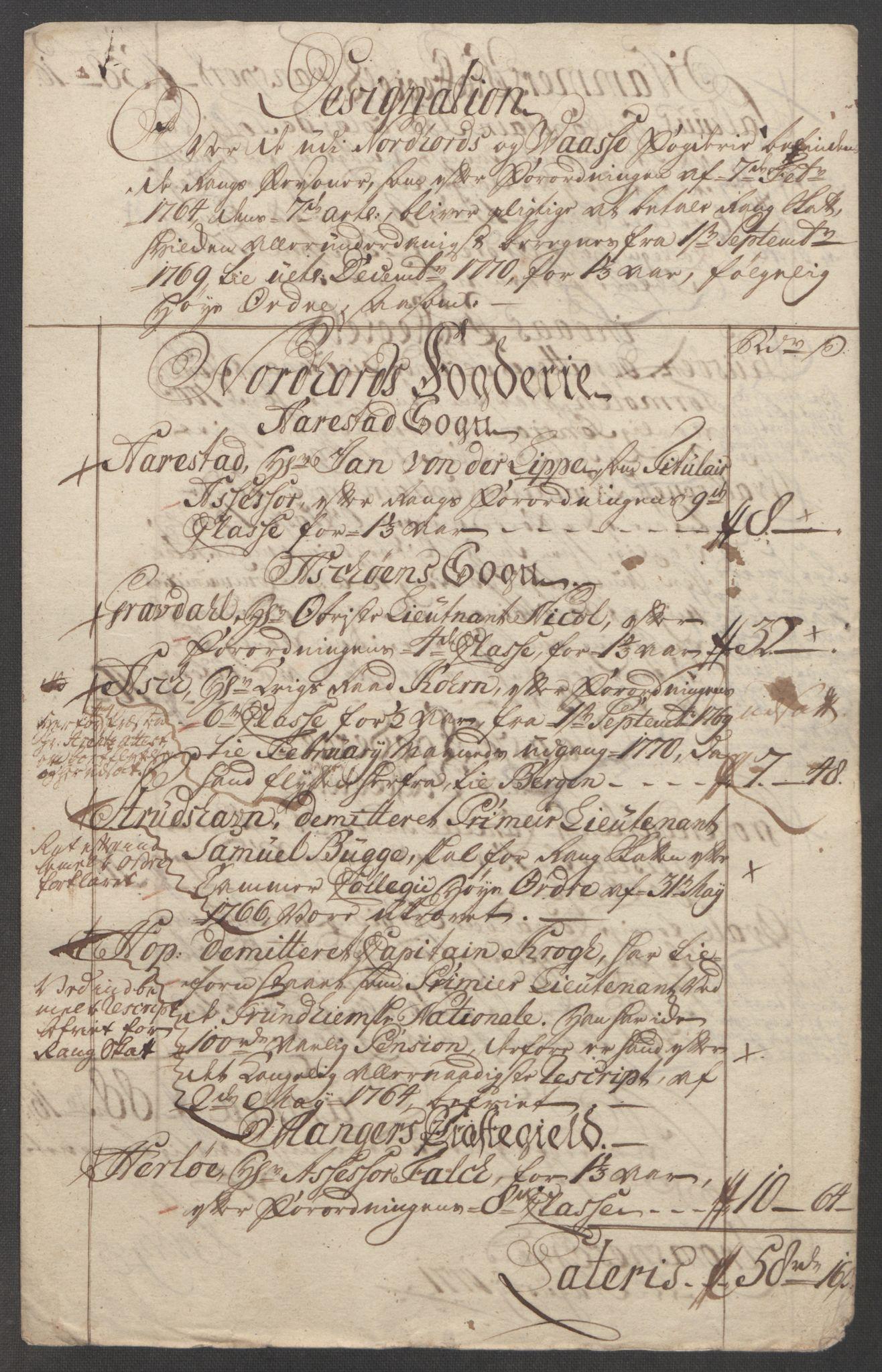 RA, Rentekammeret inntil 1814, Reviderte regnskaper, Fogderegnskap, R51/L3303: Ekstraskatten Nordhordland og Voss, 1762-1772, s. 402
