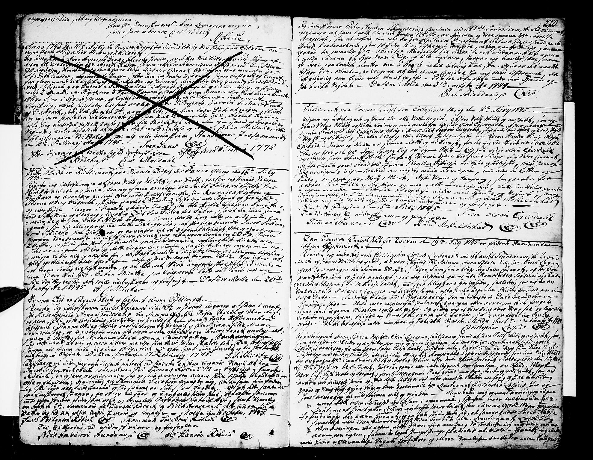 SAT, Romsdal sorenskriveri, 2/2C/L0002: Pantebok nr. 2, 1731-1745, s. 220