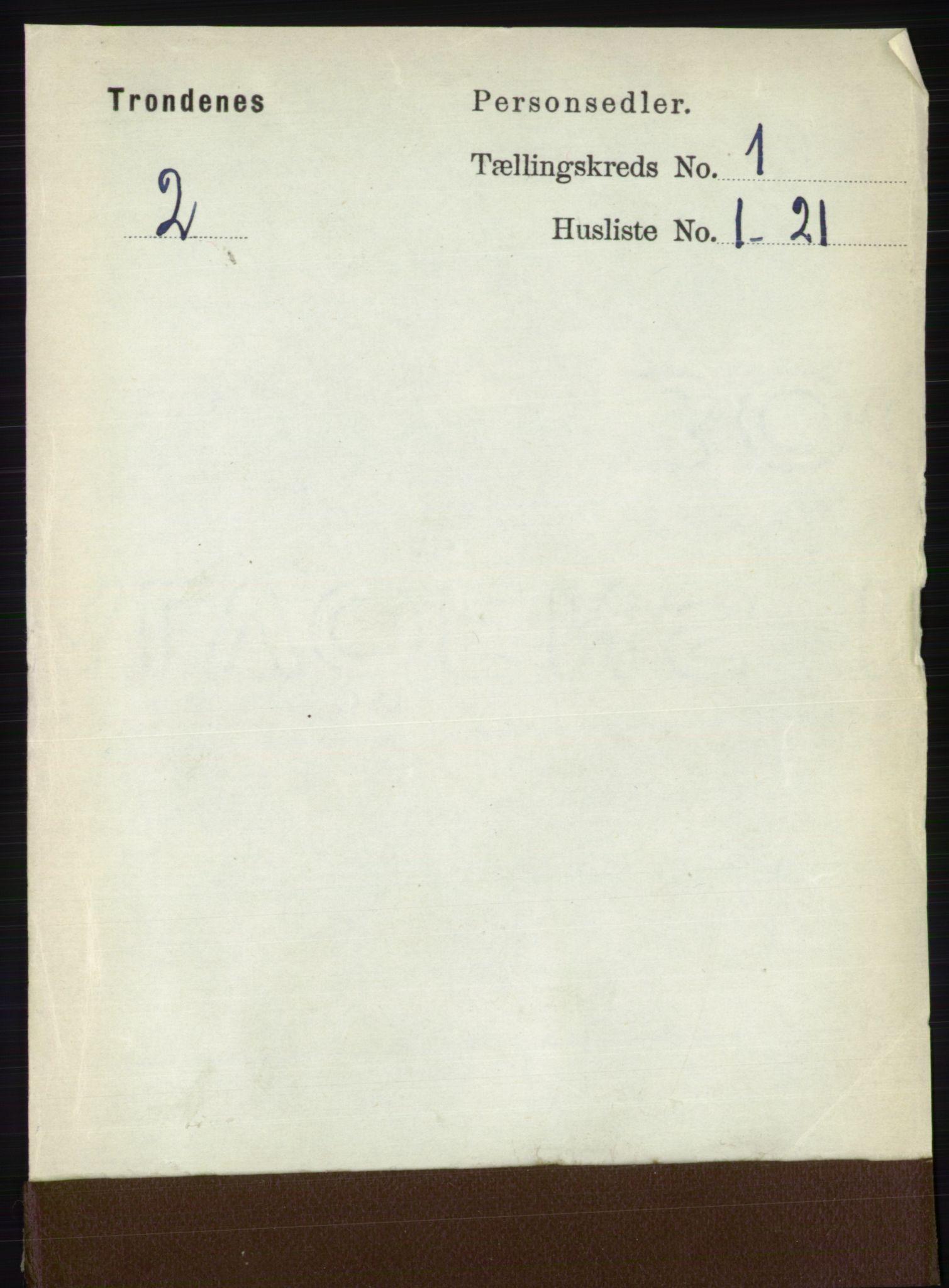 RA, Folketelling 1891 for 1914 Trondenes herred, 1891, s. 108
