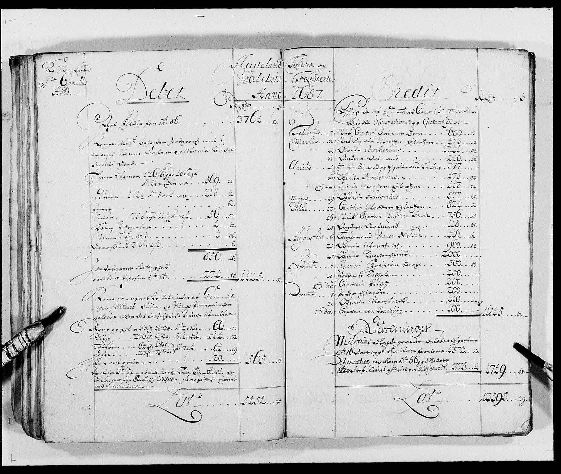 RA, Rentekammeret inntil 1814, Reviderte regnskaper, Fogderegnskap, R18/L1287: Fogderegnskap Hadeland, Toten og Valdres, 1688, s. 129