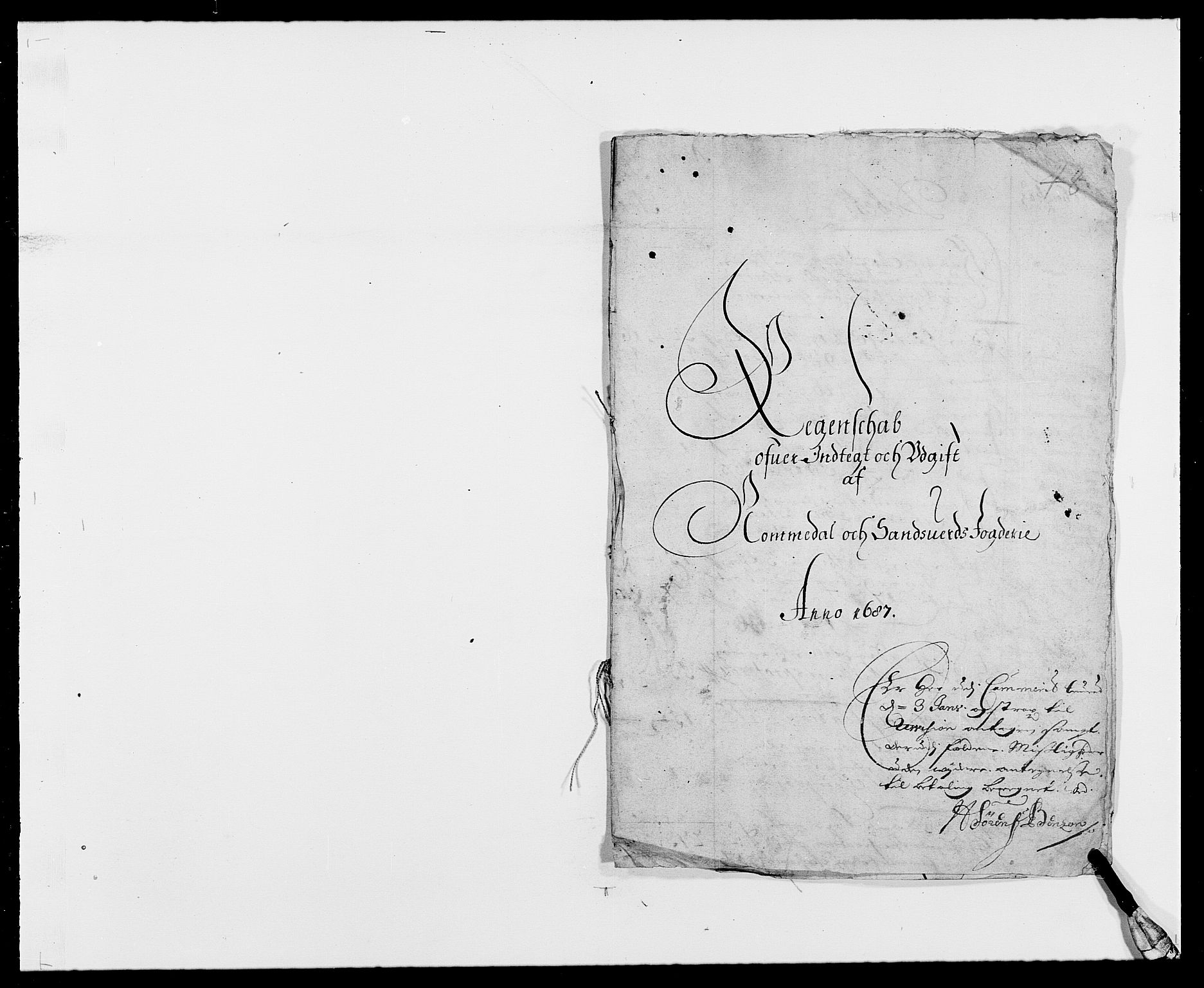 RA, Rentekammeret inntil 1814, Reviderte regnskaper, Fogderegnskap, R24/L1573: Fogderegnskap Numedal og Sandsvær, 1687-1691, s. 2